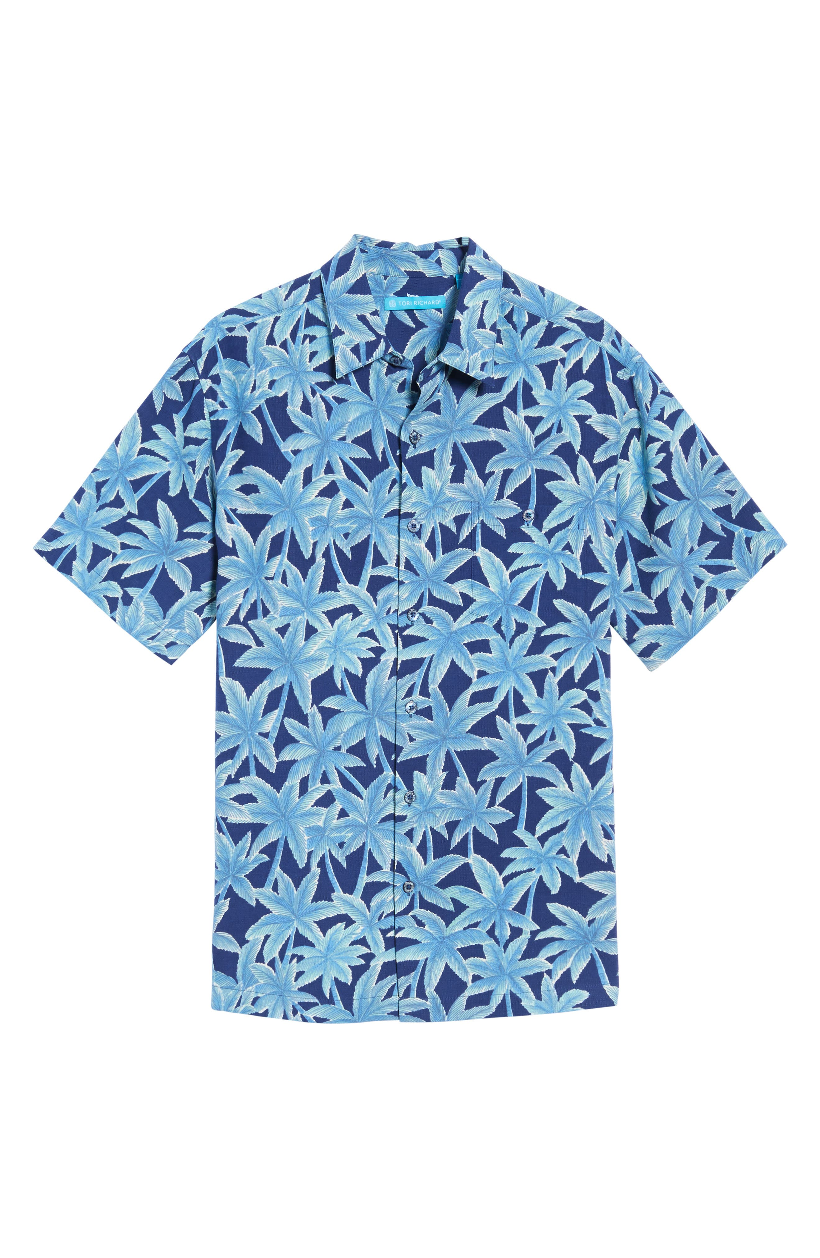 Elementree Classic Fit Silk Blend Camp Shirt,                             Alternate thumbnail 6, color,                             415