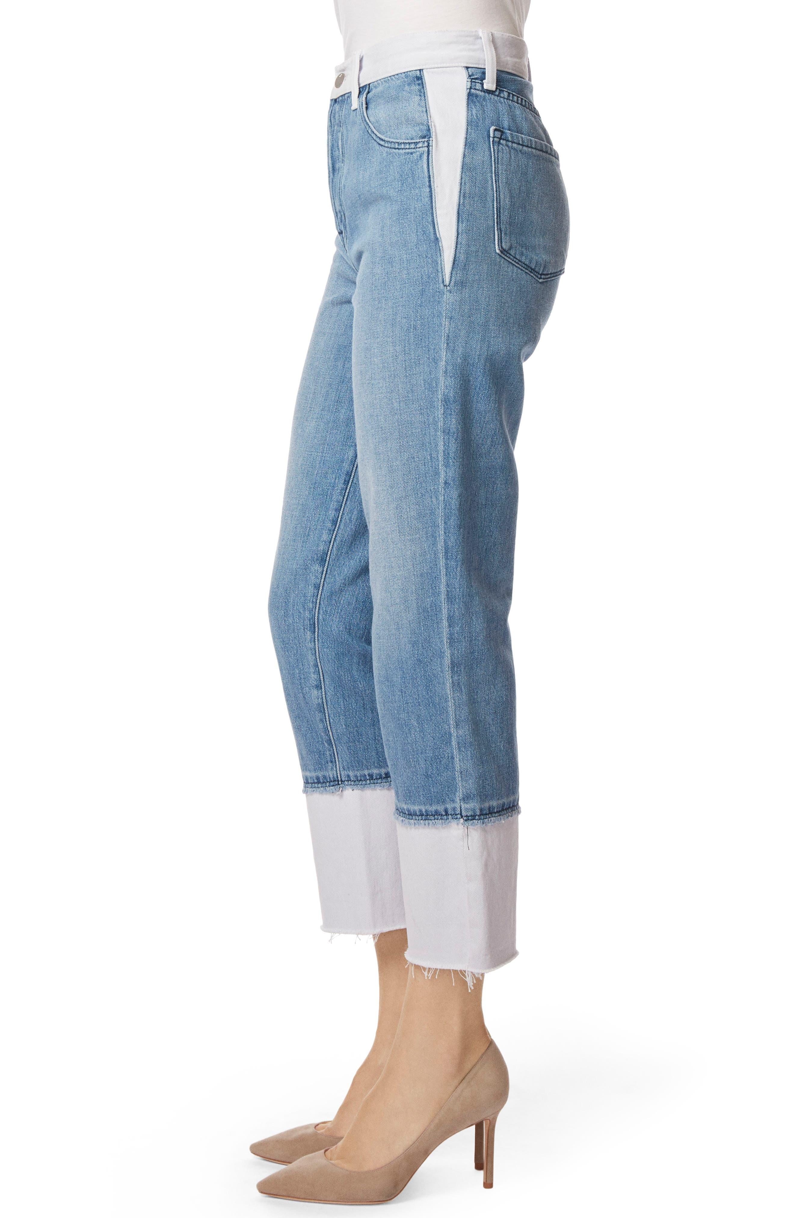 Wynne High Waist Crop Straight Leg Jeans,                             Alternate thumbnail 3, color,                             450