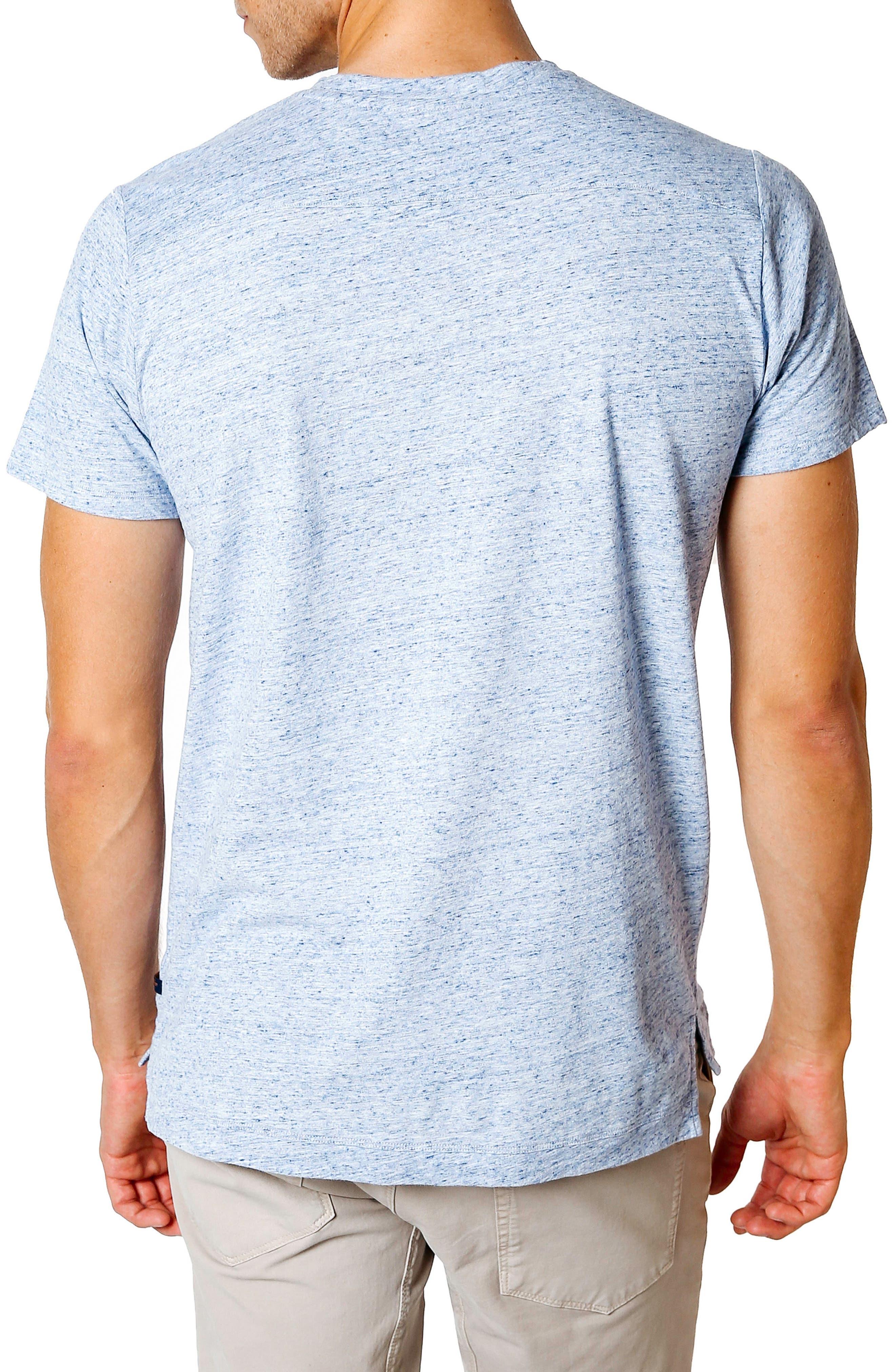 Slim Fit T-Shirt,                             Alternate thumbnail 2, color,                             BLUE HEATHER