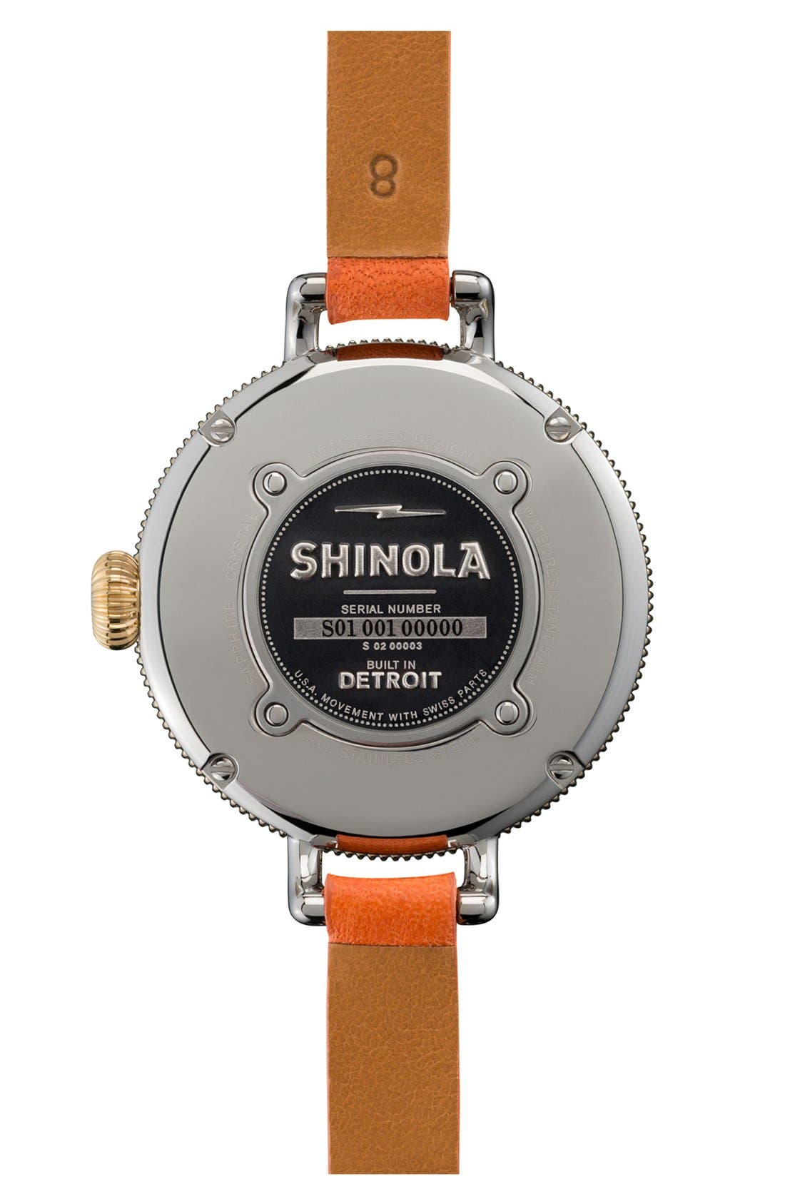 'The Birdy' Double Wrap Leather Strap Watch, 34mm,                             Alternate thumbnail 48, color,