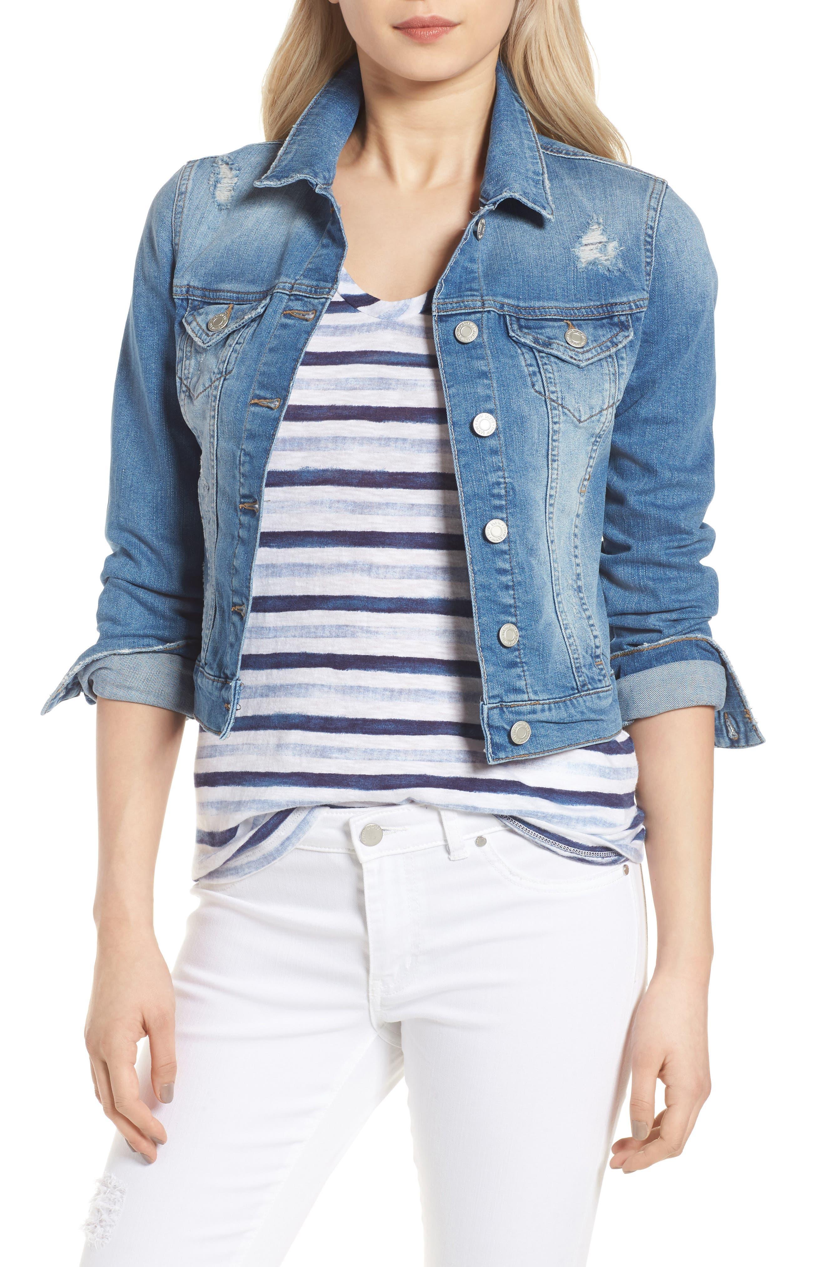Samantha Denim Jacket,                         Main,                         color, 450