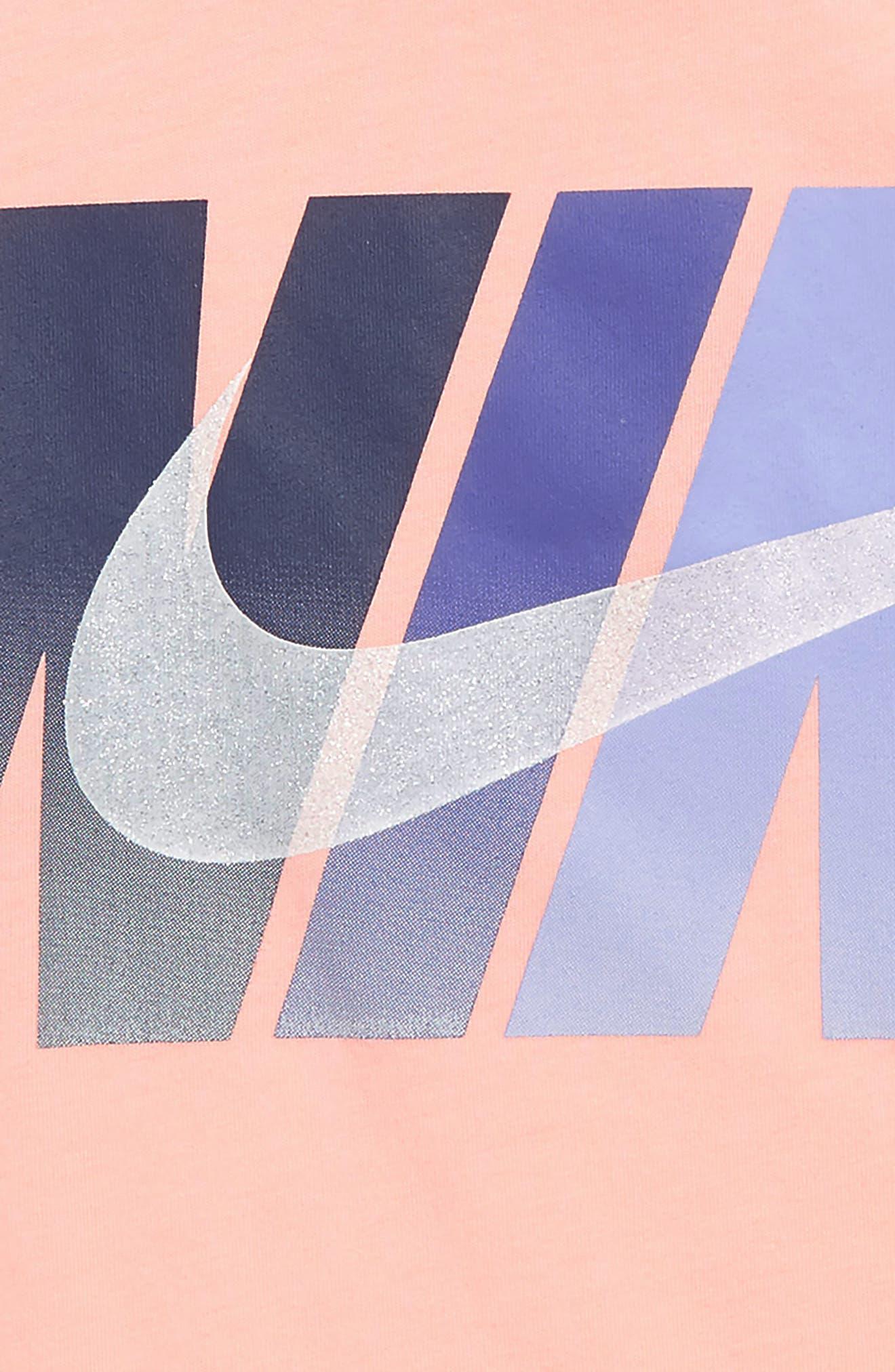 Block Chest Logo Tee,                             Alternate thumbnail 2, color,                             PINK TINT