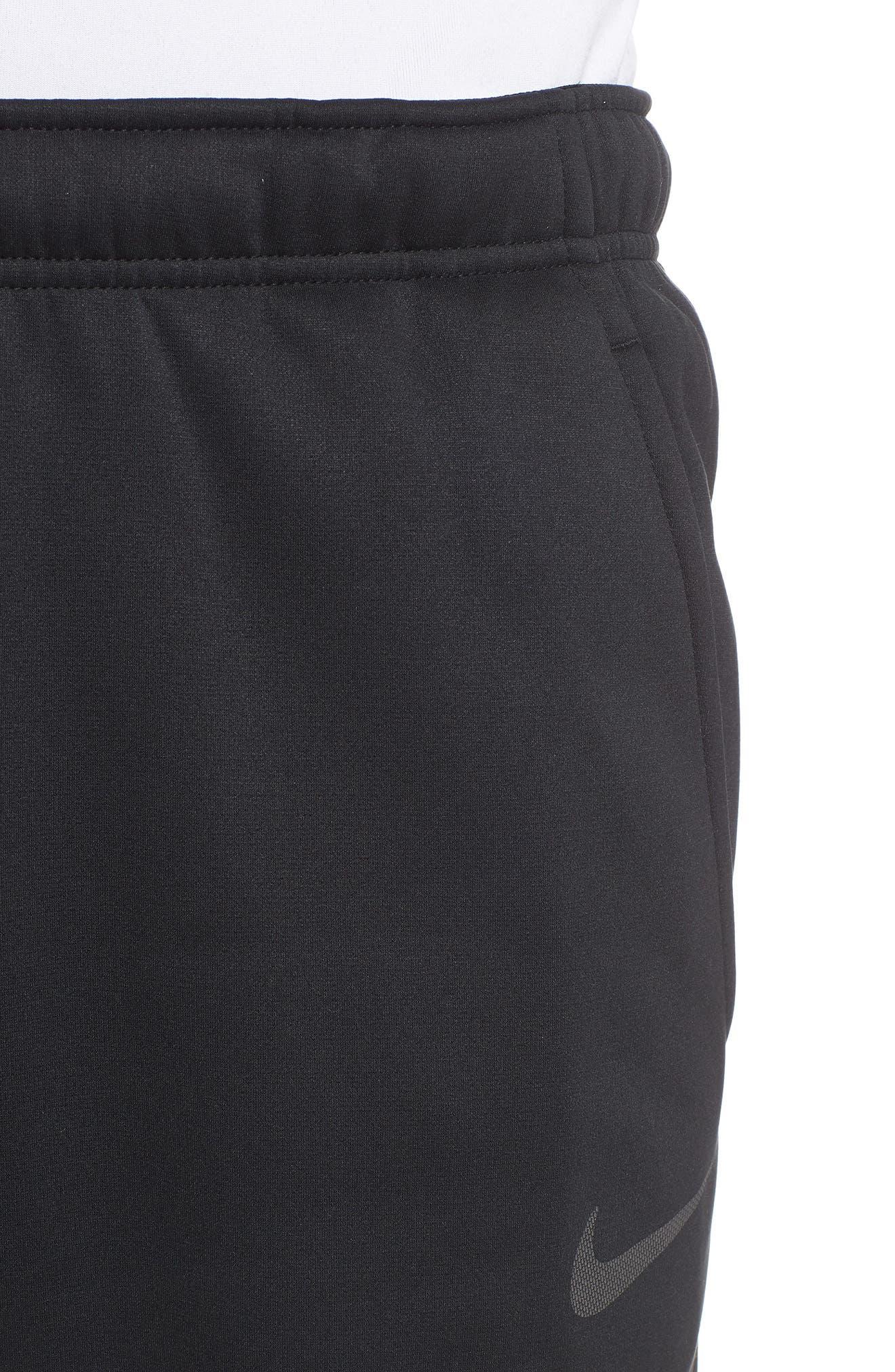 Dri-FIT Therma Training Pants,                             Alternate thumbnail 4, color,                             BLACK/ METALLIC HEMATITE