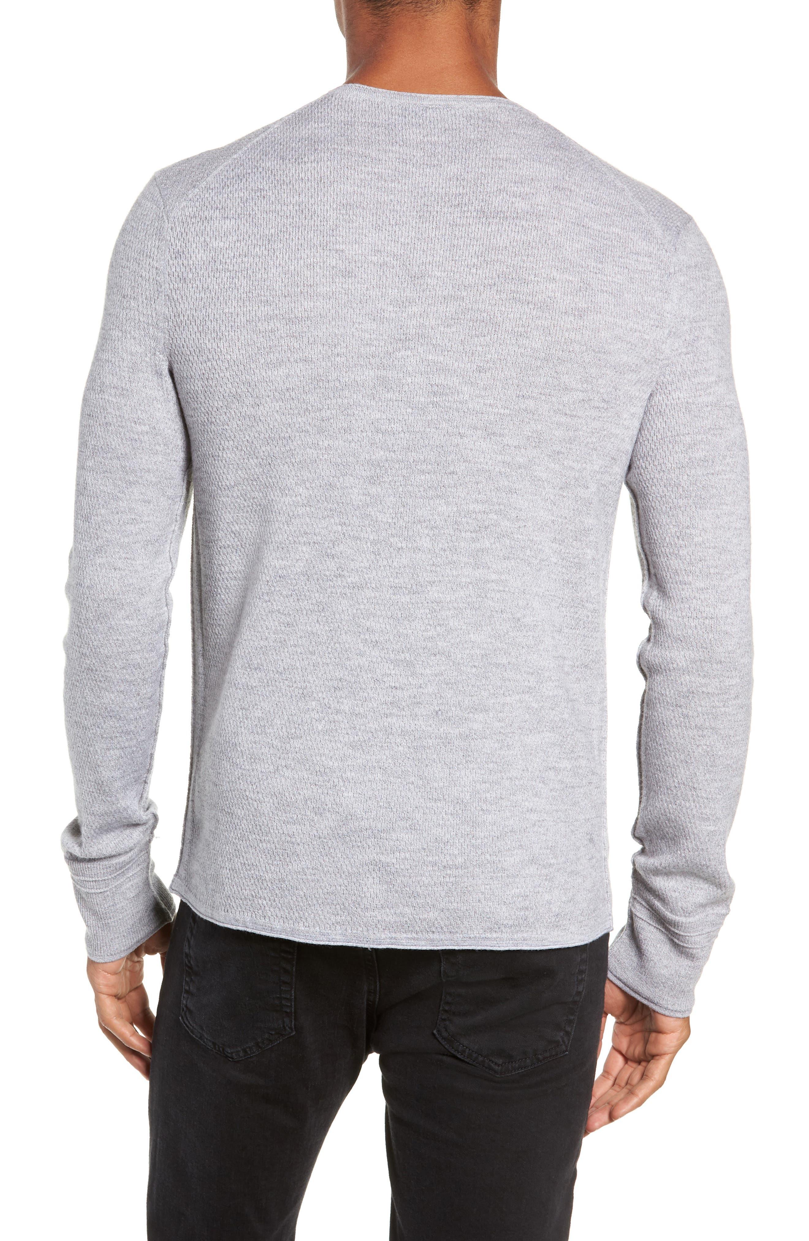 Gregory Merino Wool Blend Crewneck Sweater,                             Alternate thumbnail 2, color,                             GREY