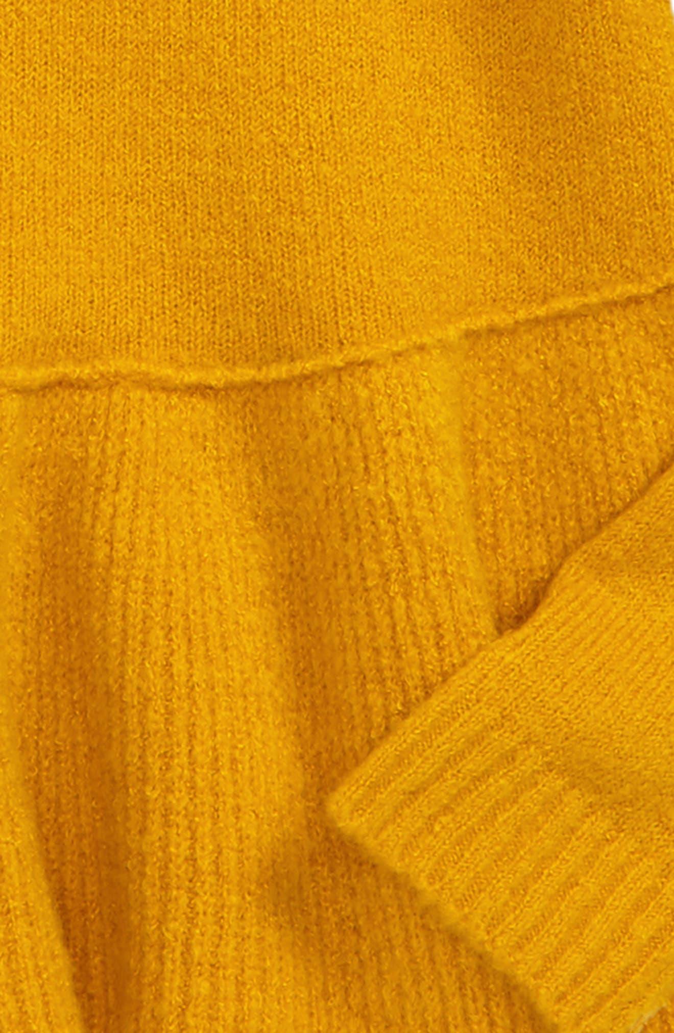 Ruffle Hem Sweater,                             Alternate thumbnail 6, color,