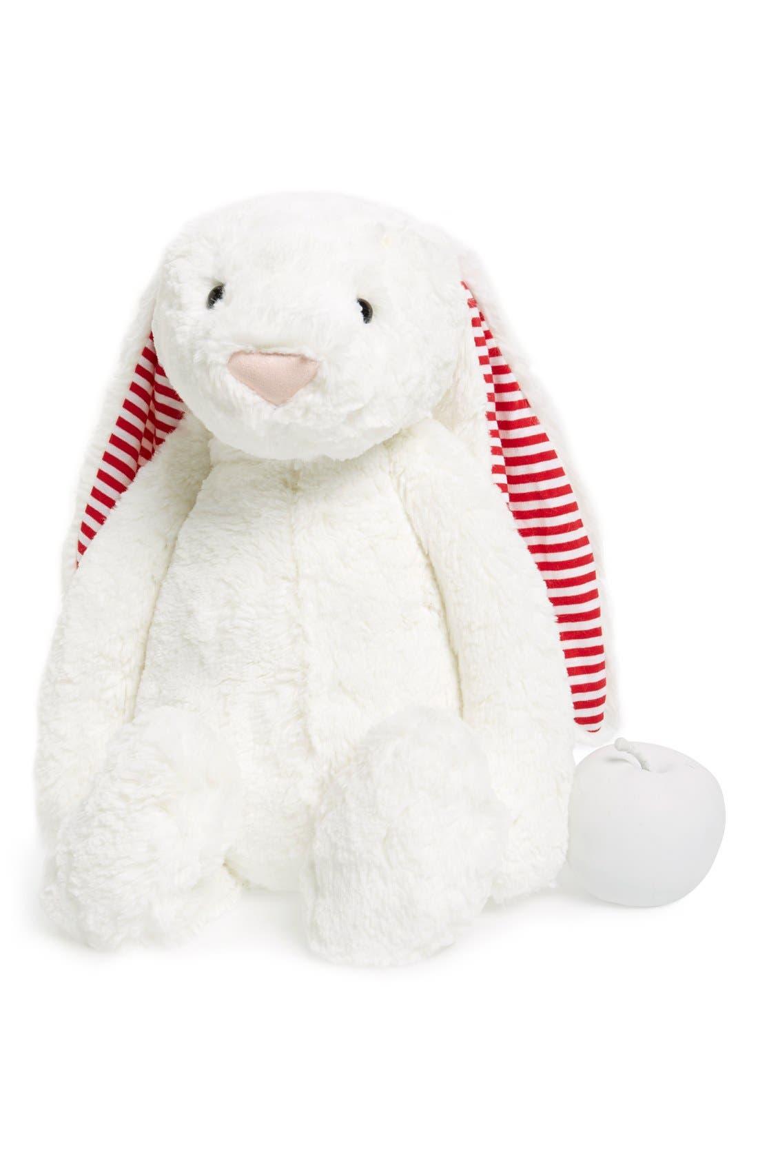 'Huge Candy Stripe Bunny' Stuffed Animal,                             Main thumbnail 1, color,