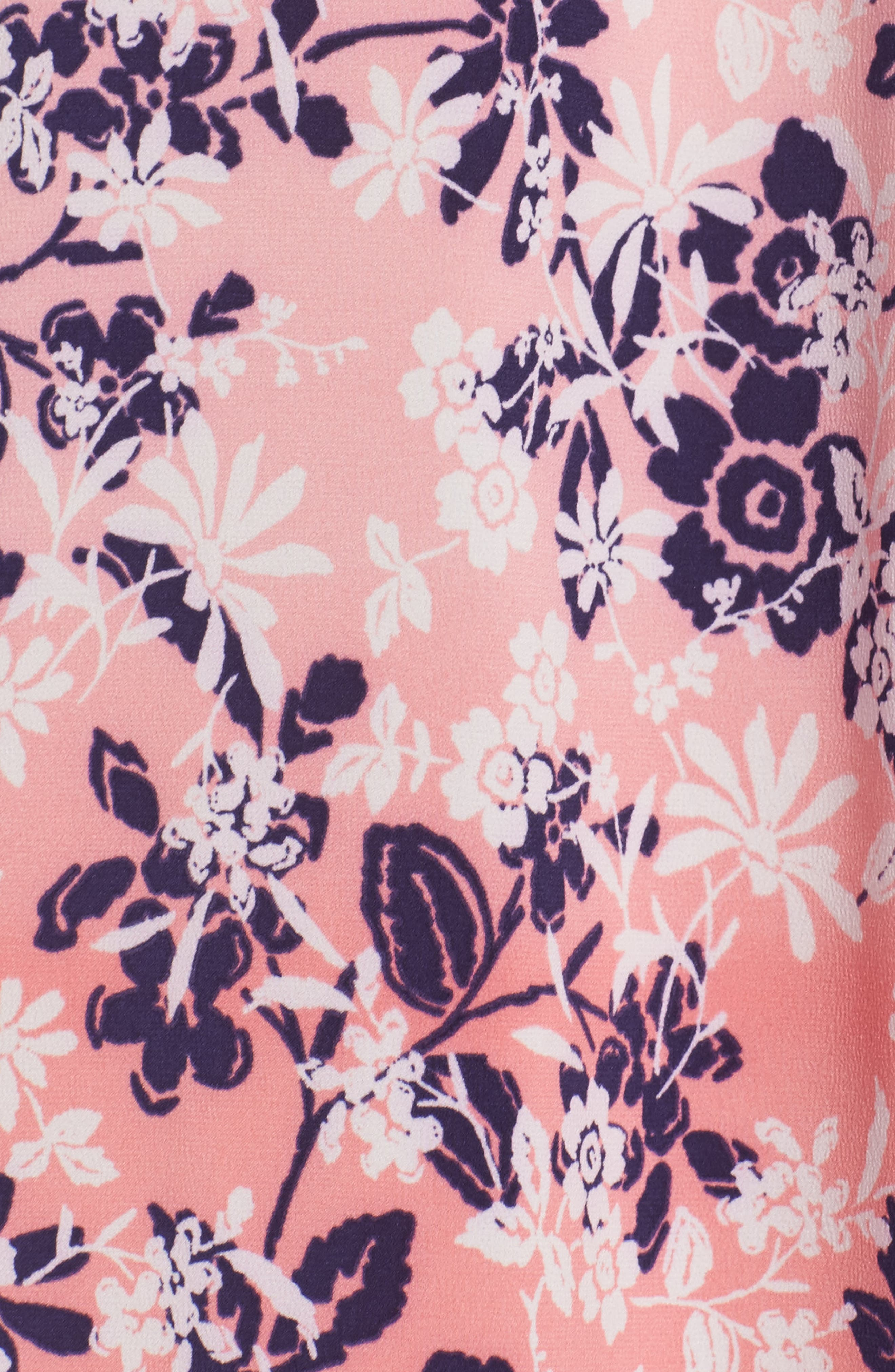 Sleepwear Floral Print Caftan,                             Alternate thumbnail 5, color,                             666