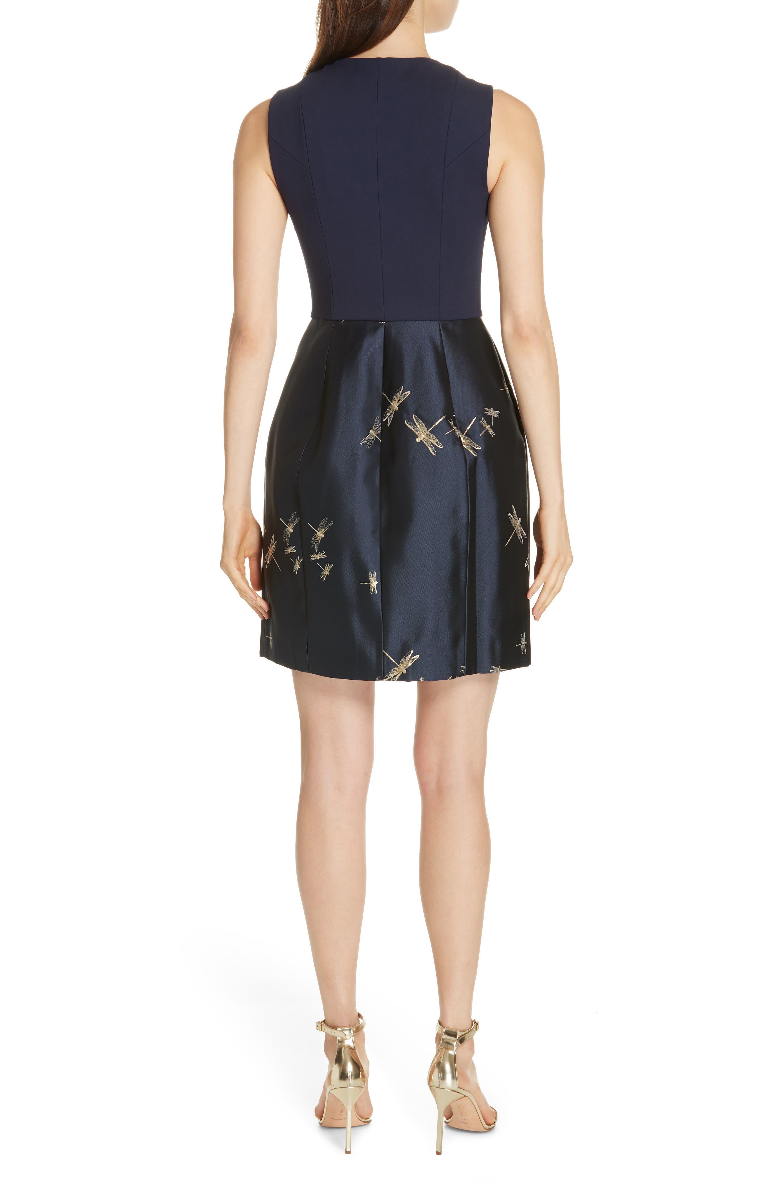 Adellu Fit & Flare Dress,                             Alternate thumbnail 2, color,                             NAVY