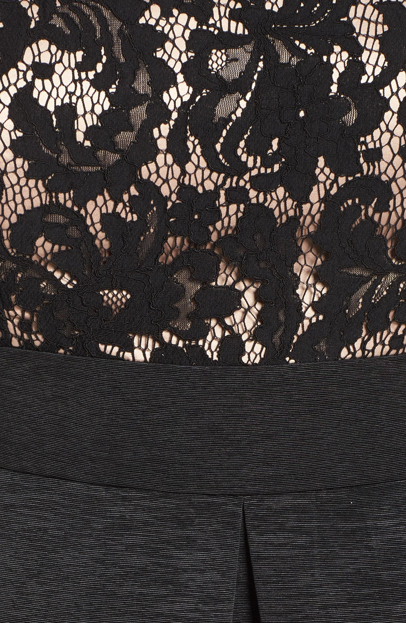 Off the Shoulder A-Line Dress,                             Alternate thumbnail 5, color,                             BLACK