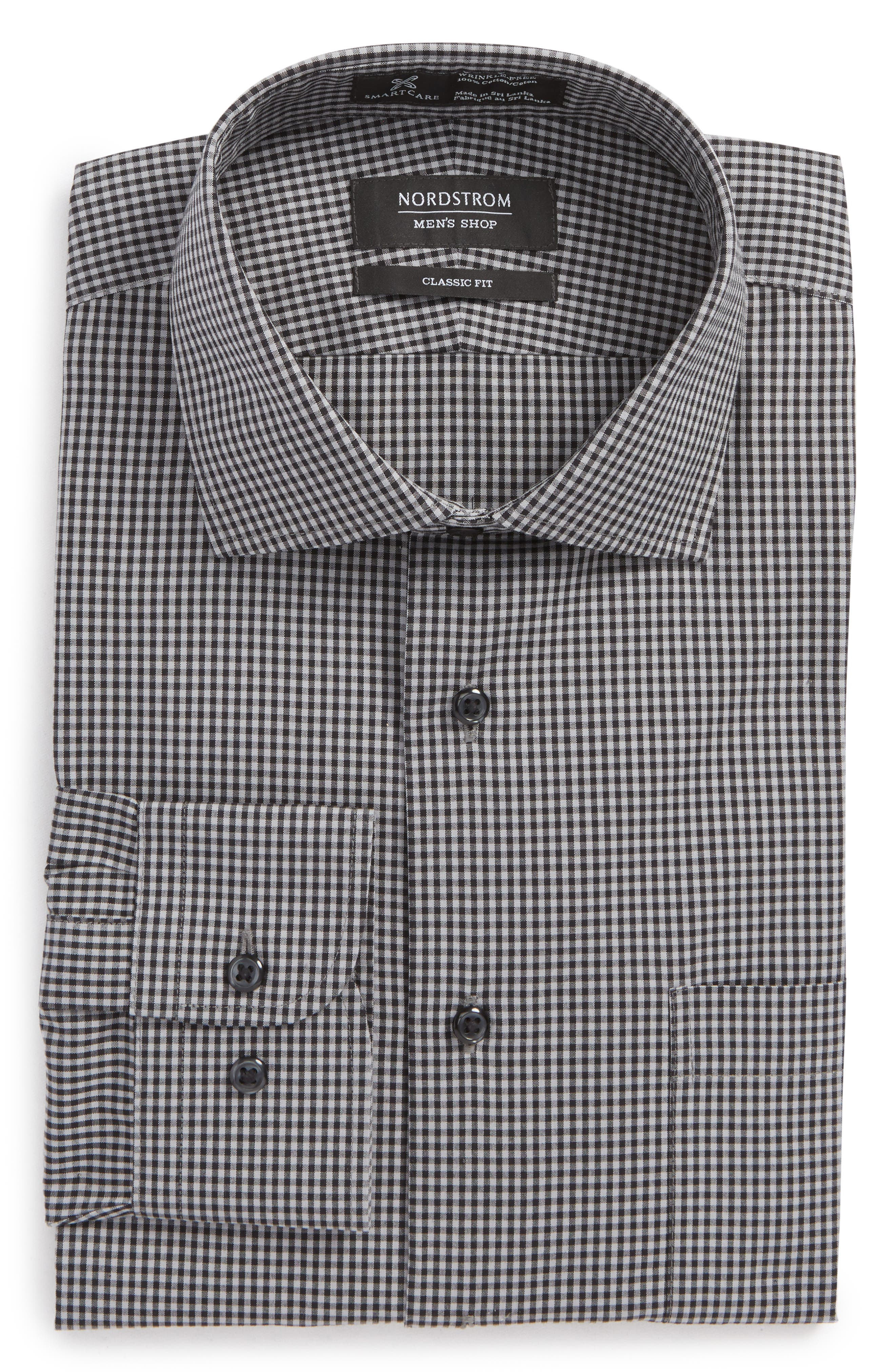 Smartcare Classic Fit Check Dress Shirt,                             Alternate thumbnail 17, color,