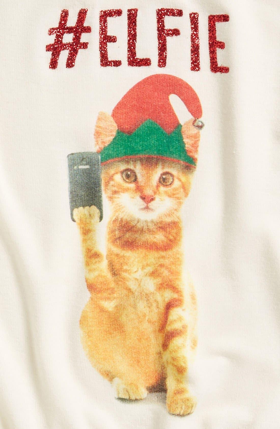 #Elfie Graphic Sweatshirt,                             Alternate thumbnail 2, color,                             100