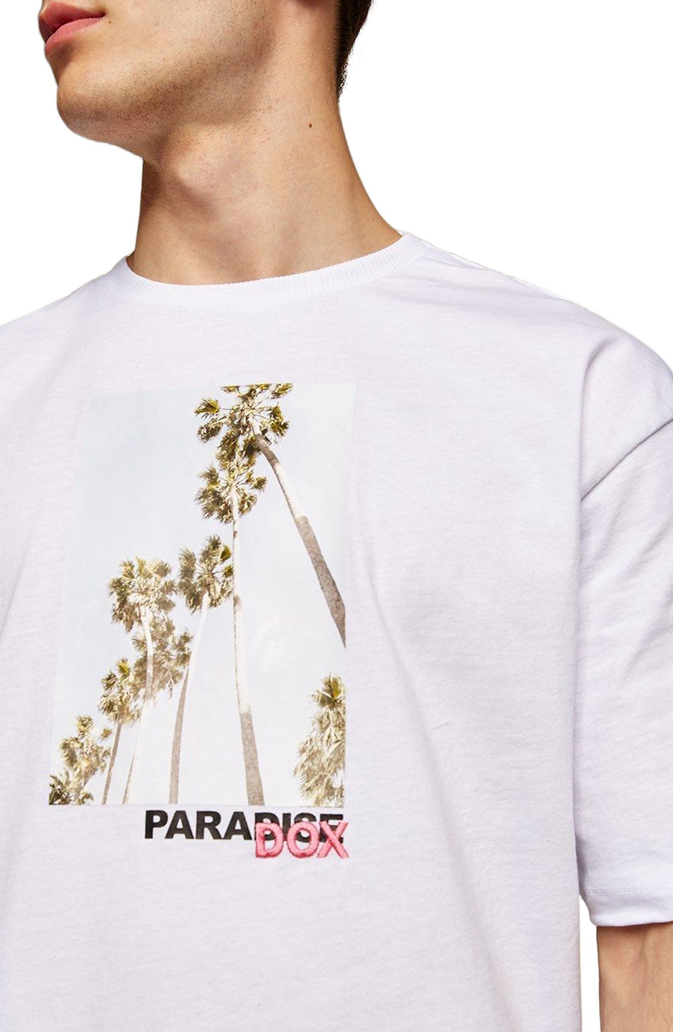 Paradox Graphic T-Shirt,                             Main thumbnail 1, color,                             WHITE MULTI