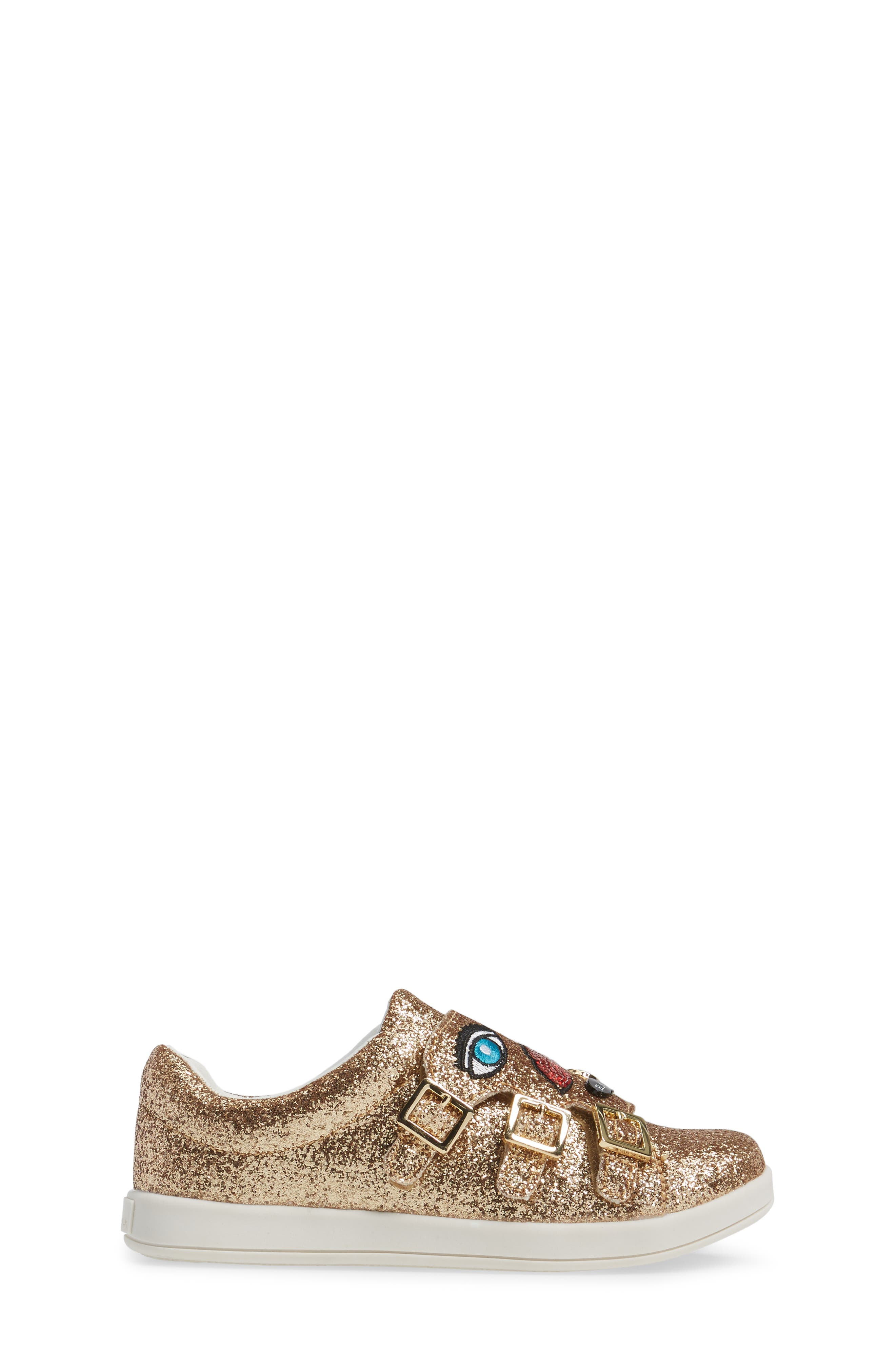 Liv Wendy Glitter Emoji Sneaker,                             Alternate thumbnail 3, color,                             710