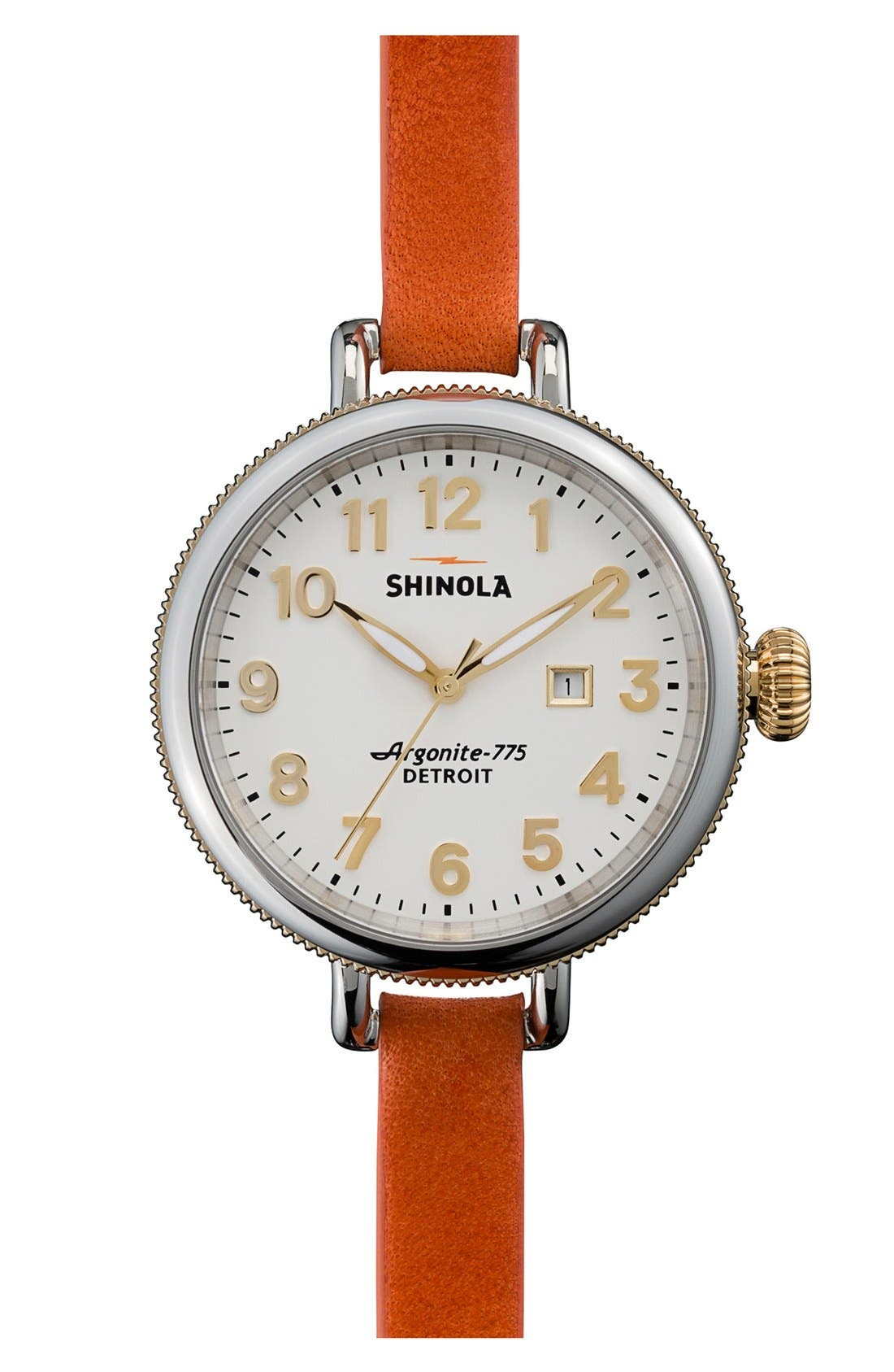 'The Birdy' Double Wrap Leather Strap Watch, 34mm,                             Main thumbnail 16, color,