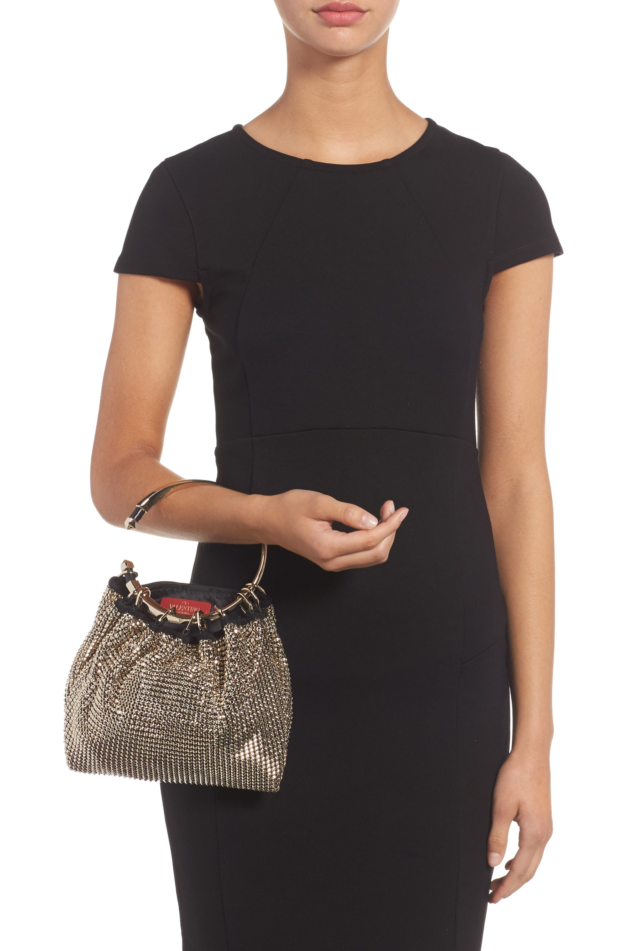 Ring Mesh Clutch,                             Alternate thumbnail 2, color,                             112