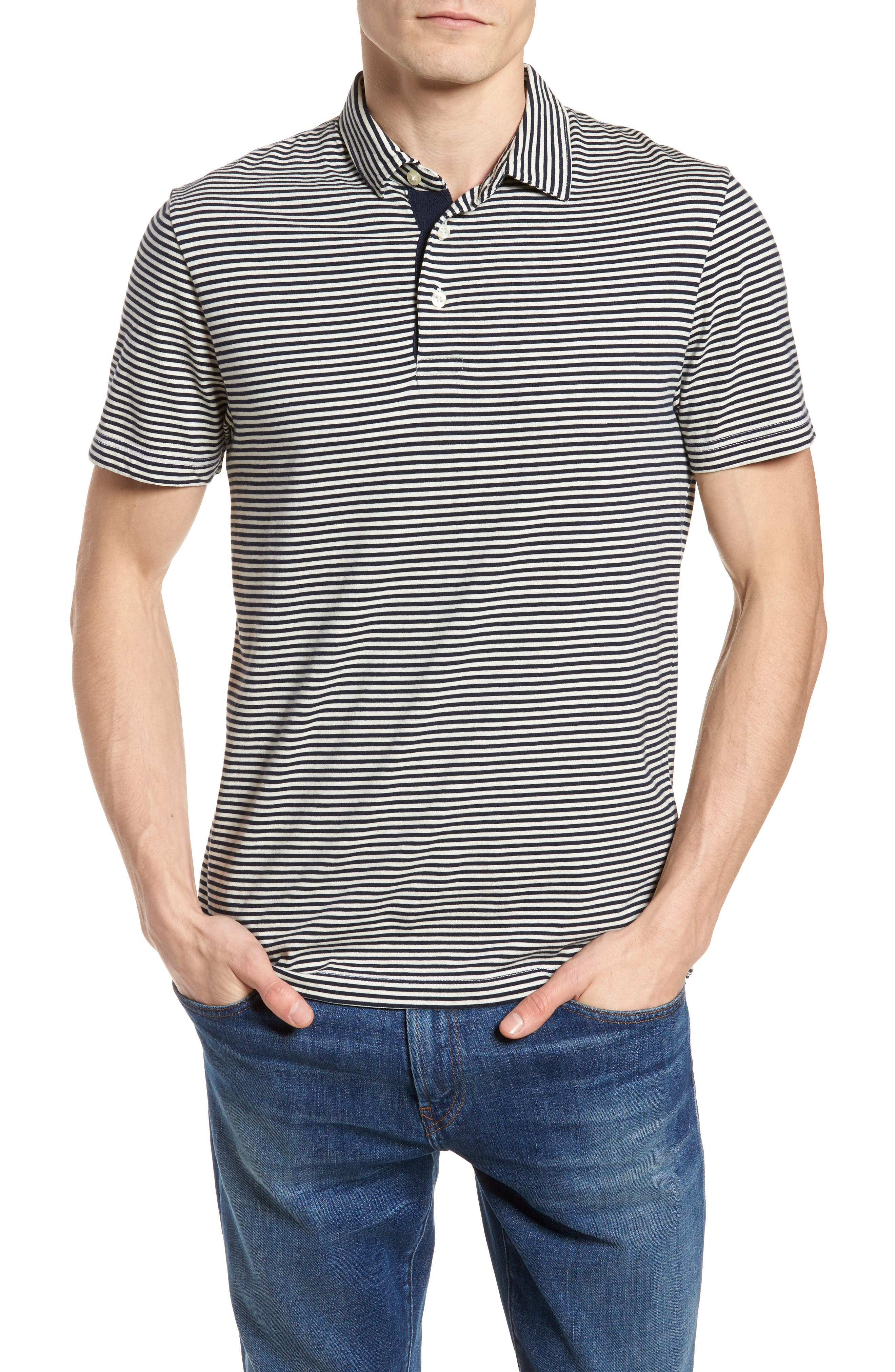 Pinstripe Polo,                         Main,                         color,