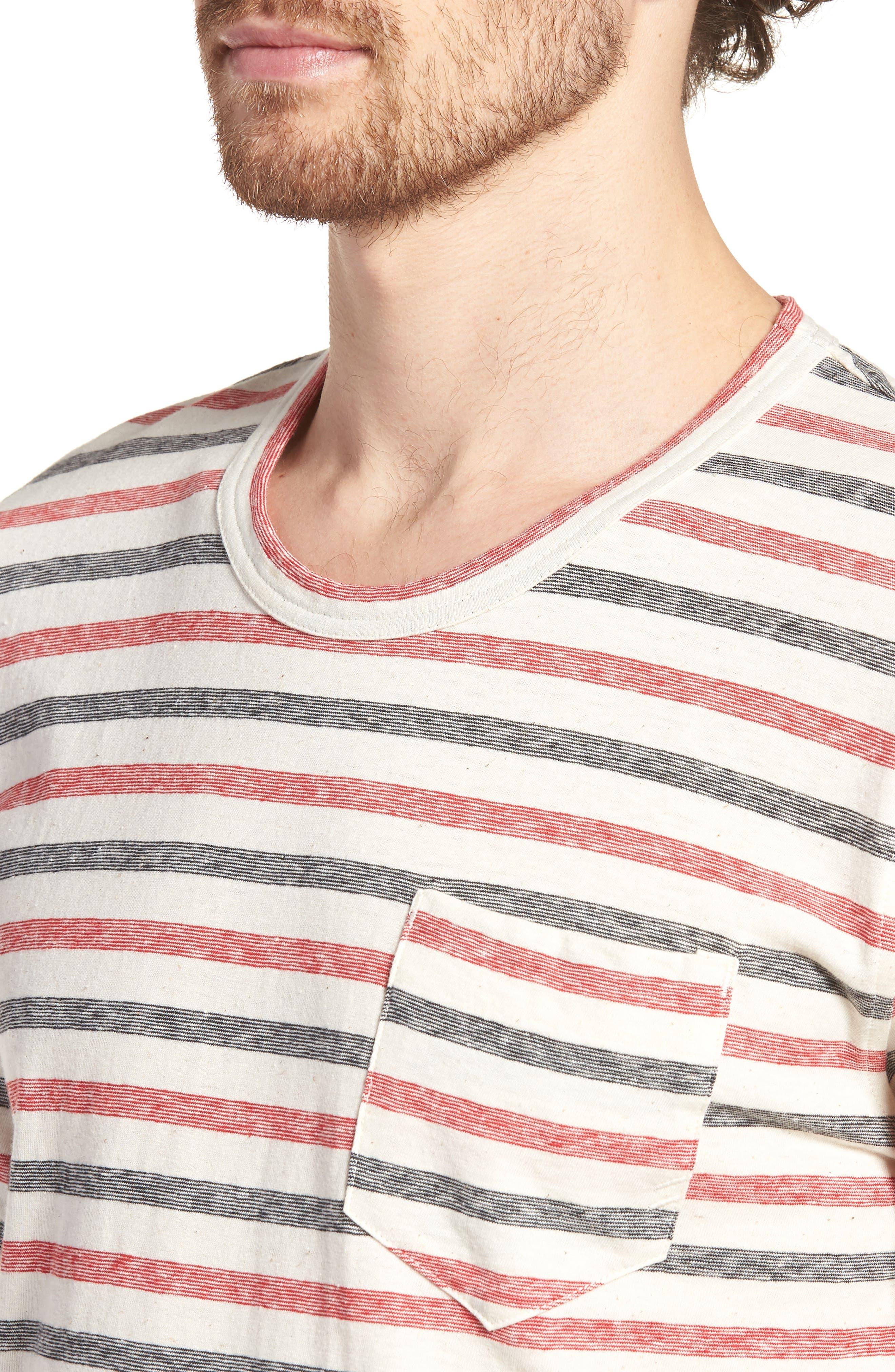 Striped T-Shirt,                             Alternate thumbnail 4, color,                             610