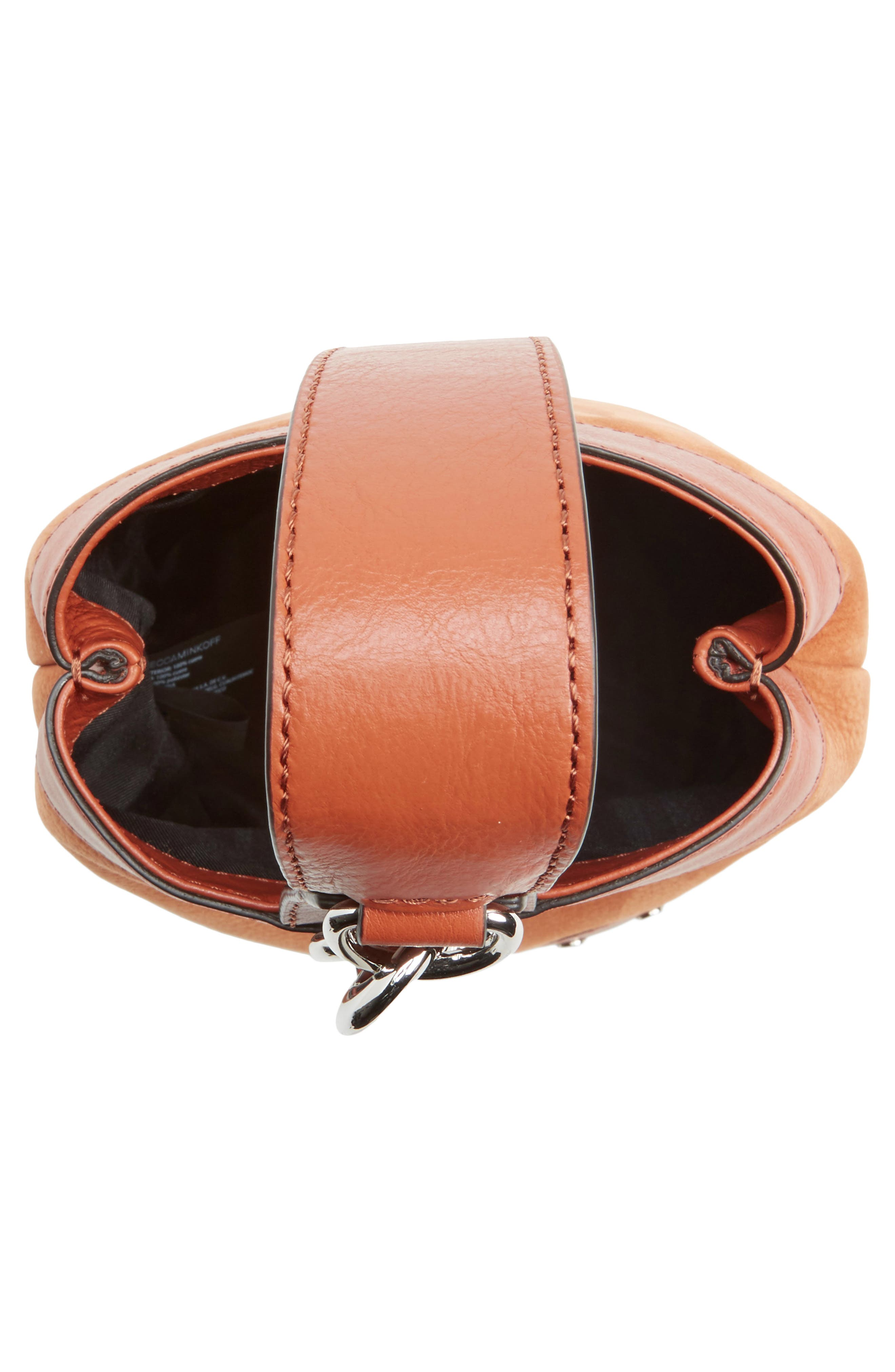 Mini Mission Leather Bucket Bag,                             Alternate thumbnail 4, color,                             200