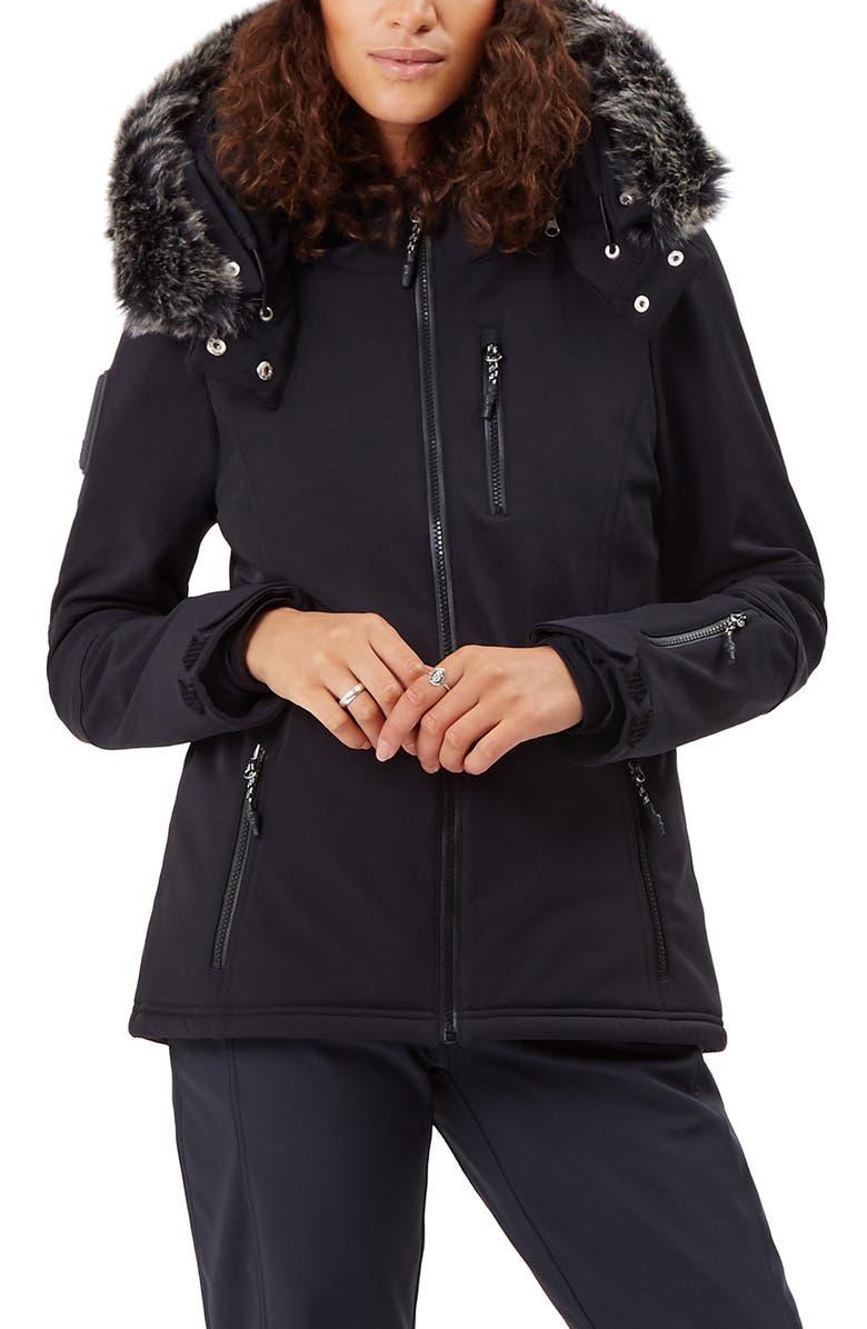 b3d6de0032d Sweaty Betty Exploration Soft Shell Ski Jacket with Faux Fur Trim ...