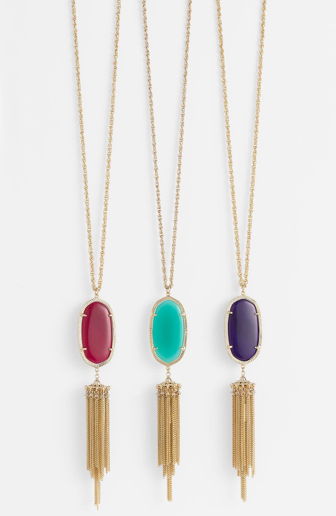 Rayne Stone Tassel Pendant Necklace,                             Alternate thumbnail 268, color,