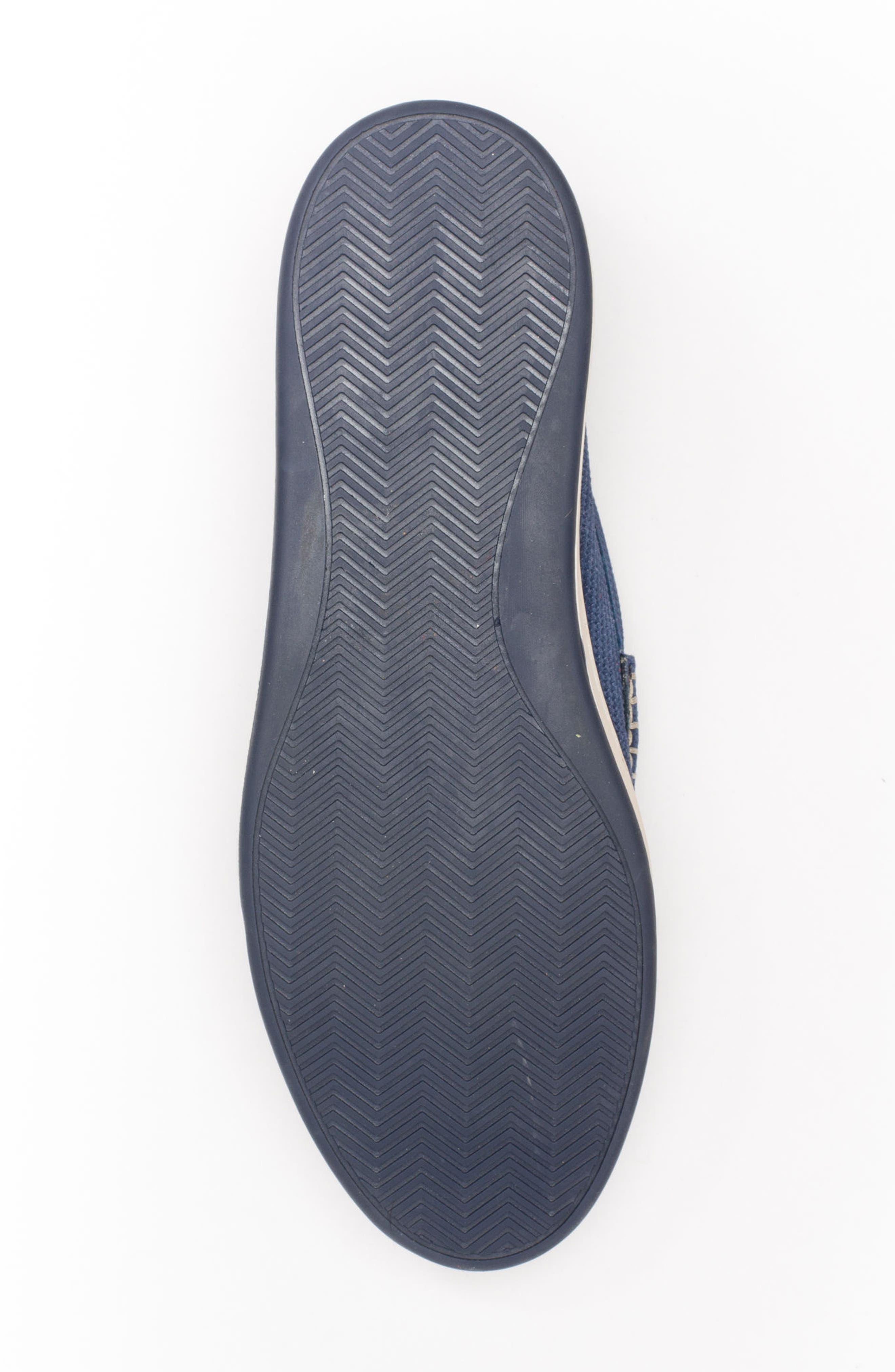 Bradford Embossed Penny Loafer Sneaker,                             Alternate thumbnail 6, color,                             DARK INDIGO