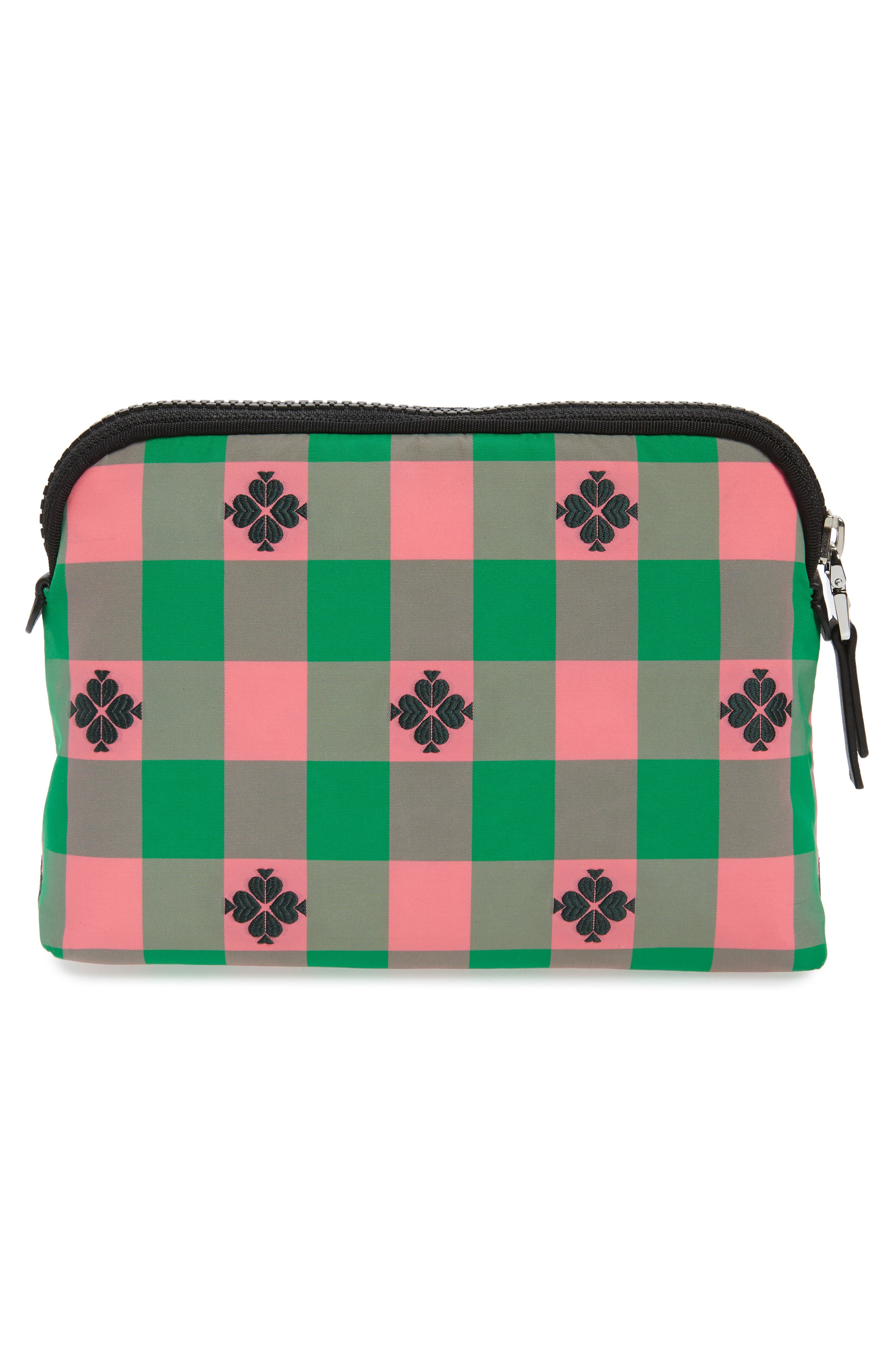 morley medium cosmetic pouch,                             Alternate thumbnail 2, color,                             BRIGHT PINK MULTI