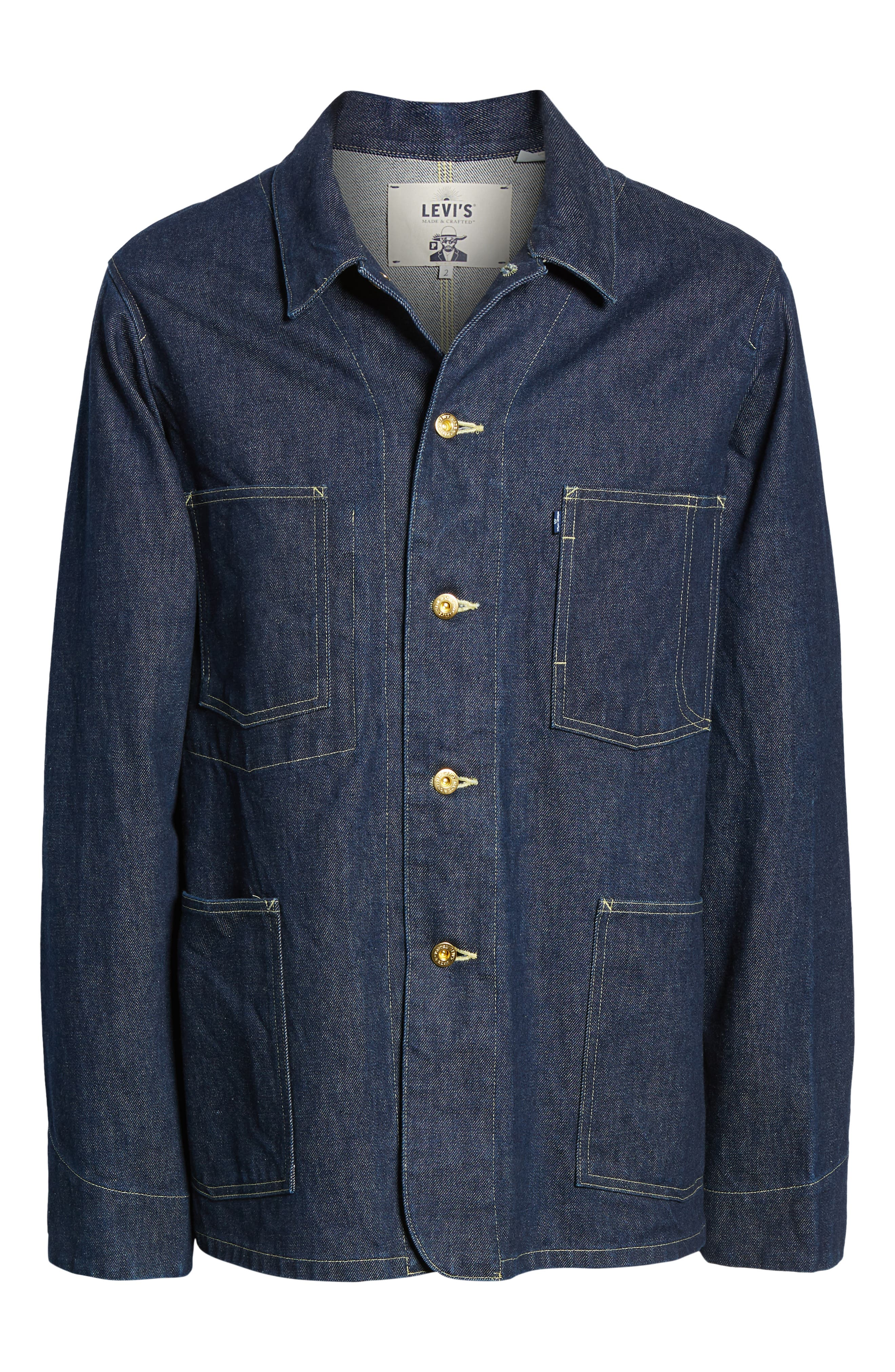 LEVI'S<SUP>®</SUP> MADE & CRAFTED<SUP>™</SUP>,                             Sat Denim Shirt Jacket,                             Alternate thumbnail 7, color,                             RINSE