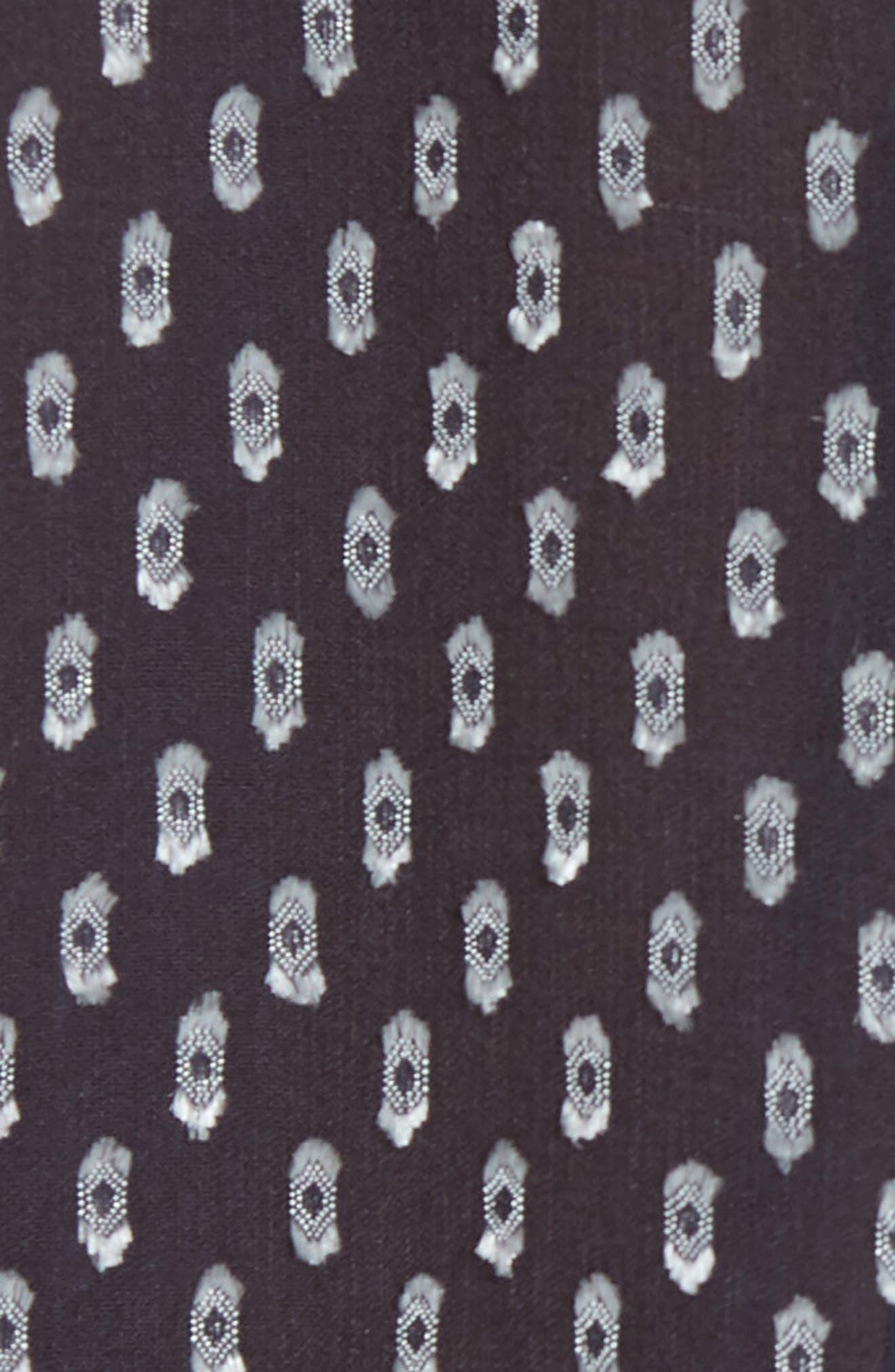 Silk Blend Ruffle Cuff Top,                             Alternate thumbnail 5, color,                             497