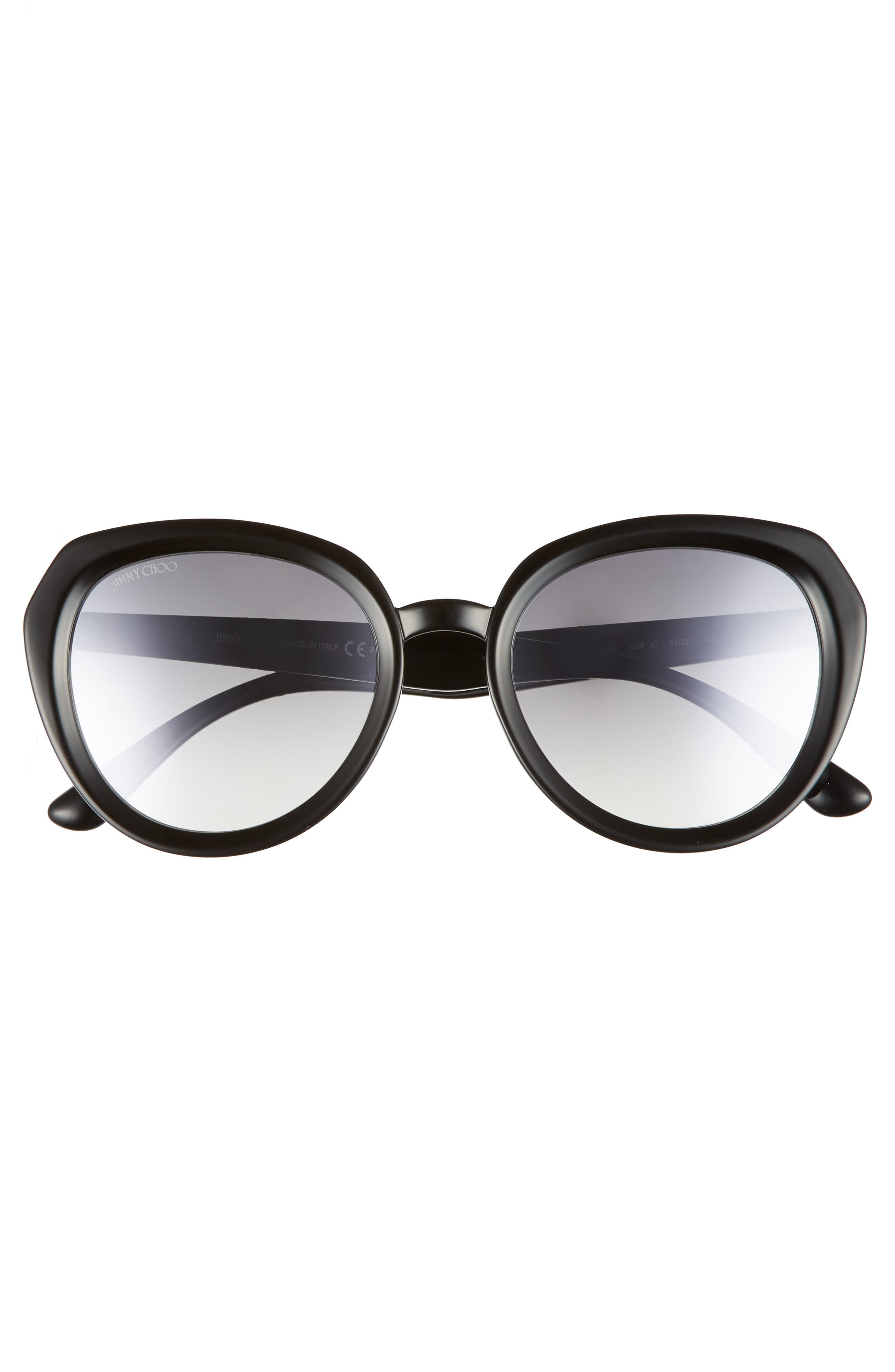 Maces 53mm Oversize Sunglasses,                             Alternate thumbnail 3, color,                             BLACK GLITTER
