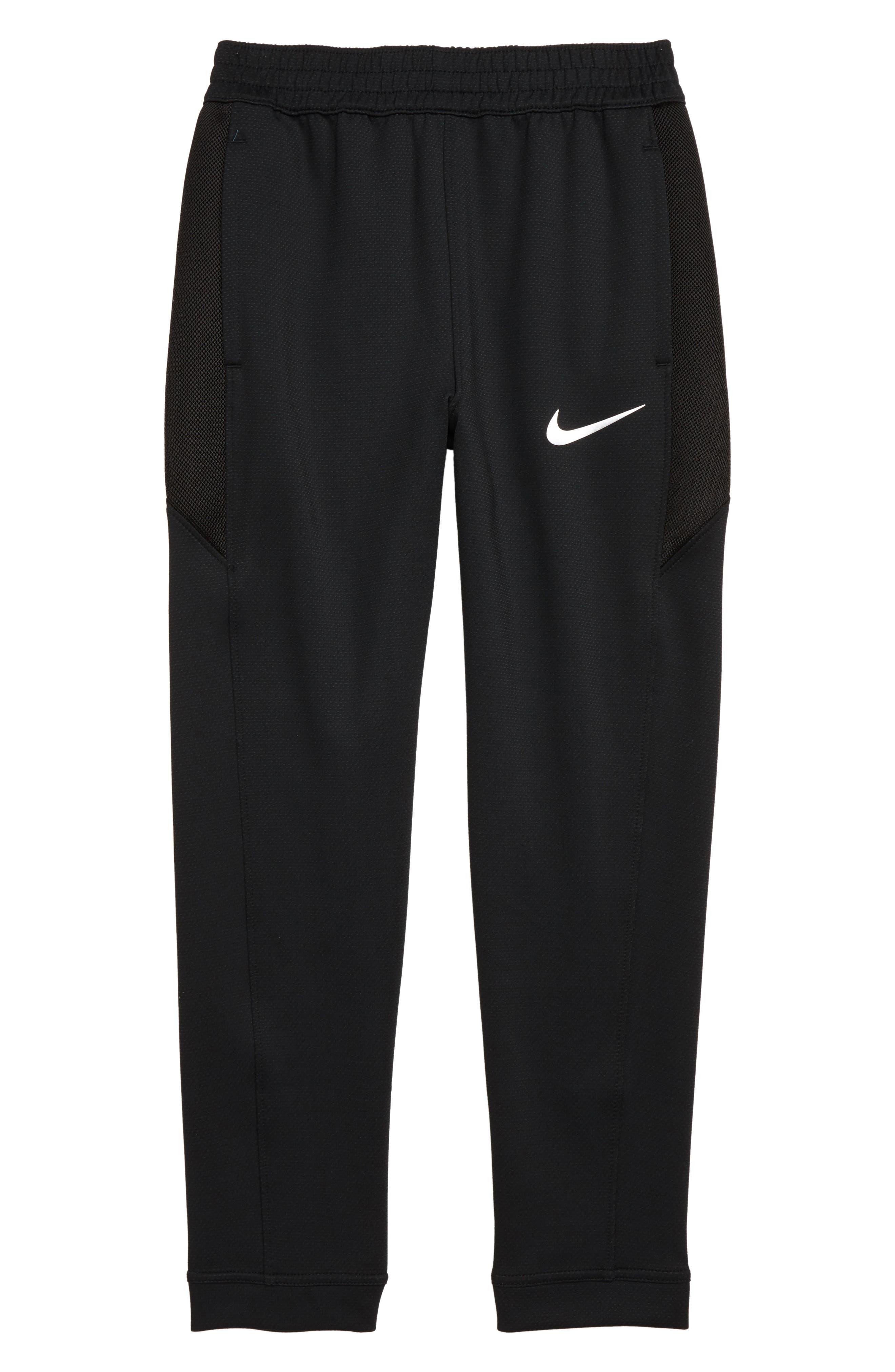 Dry Therma Flex Showtime Basketball Pants,                             Main thumbnail 1, color,                             BLACK/ METALLIC SILVER