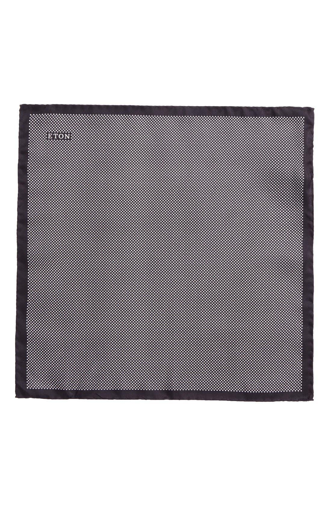 Dot Silk Pocket Square,                             Alternate thumbnail 3, color,                             001