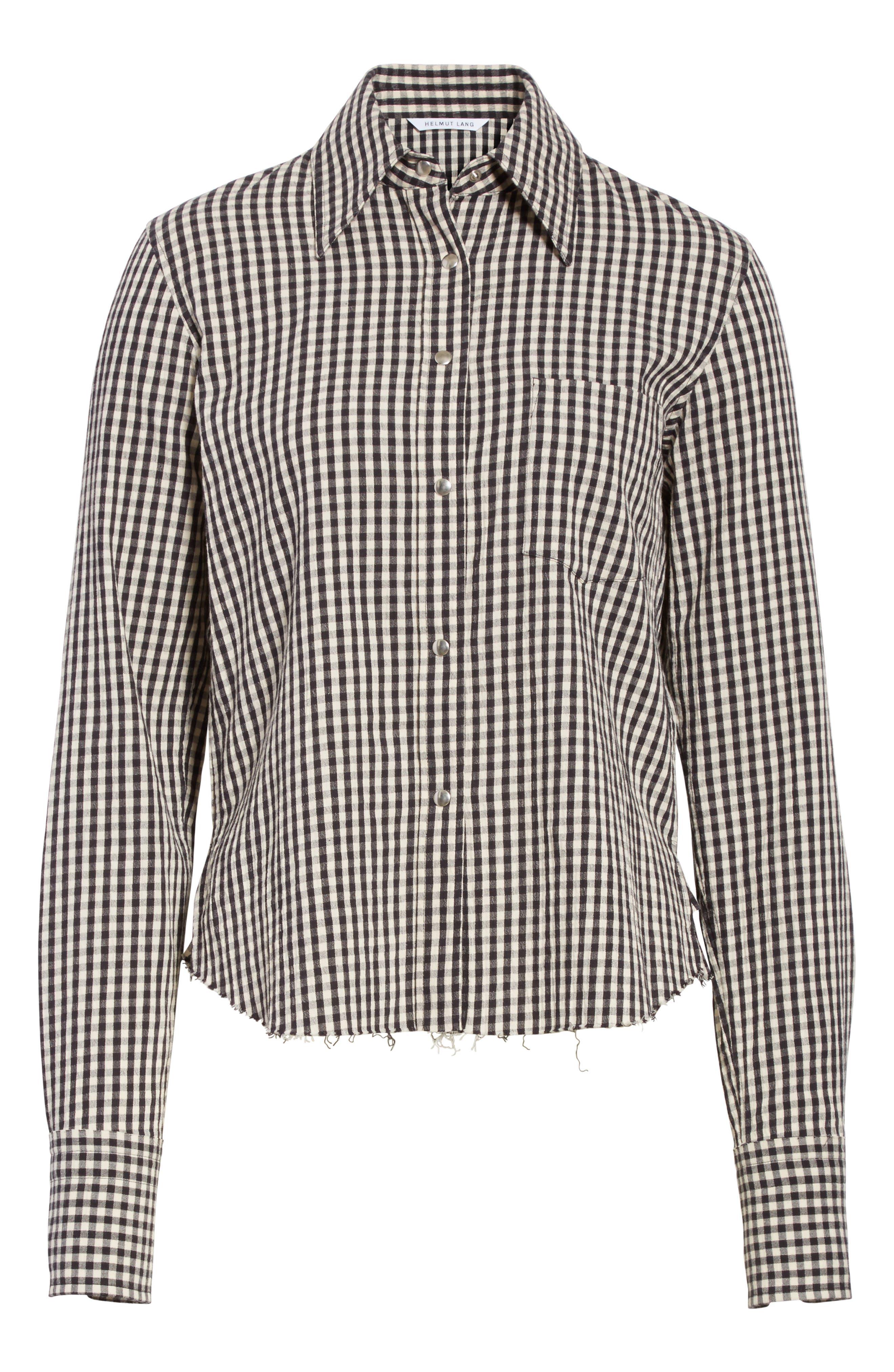 Gingham Check Shirt,                             Alternate thumbnail 6, color,