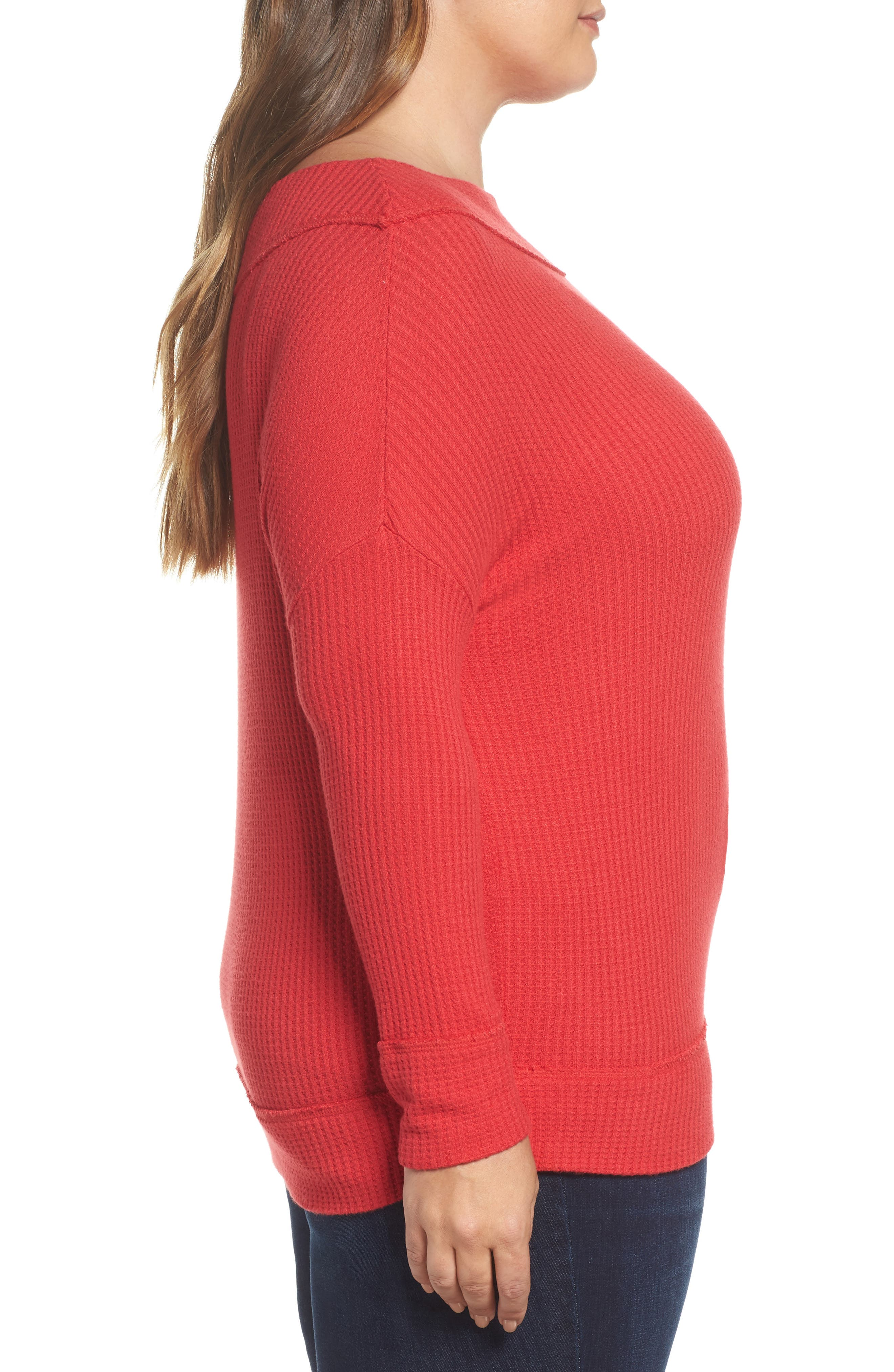 Waffle Thermal Top,                             Alternate thumbnail 6, color,
