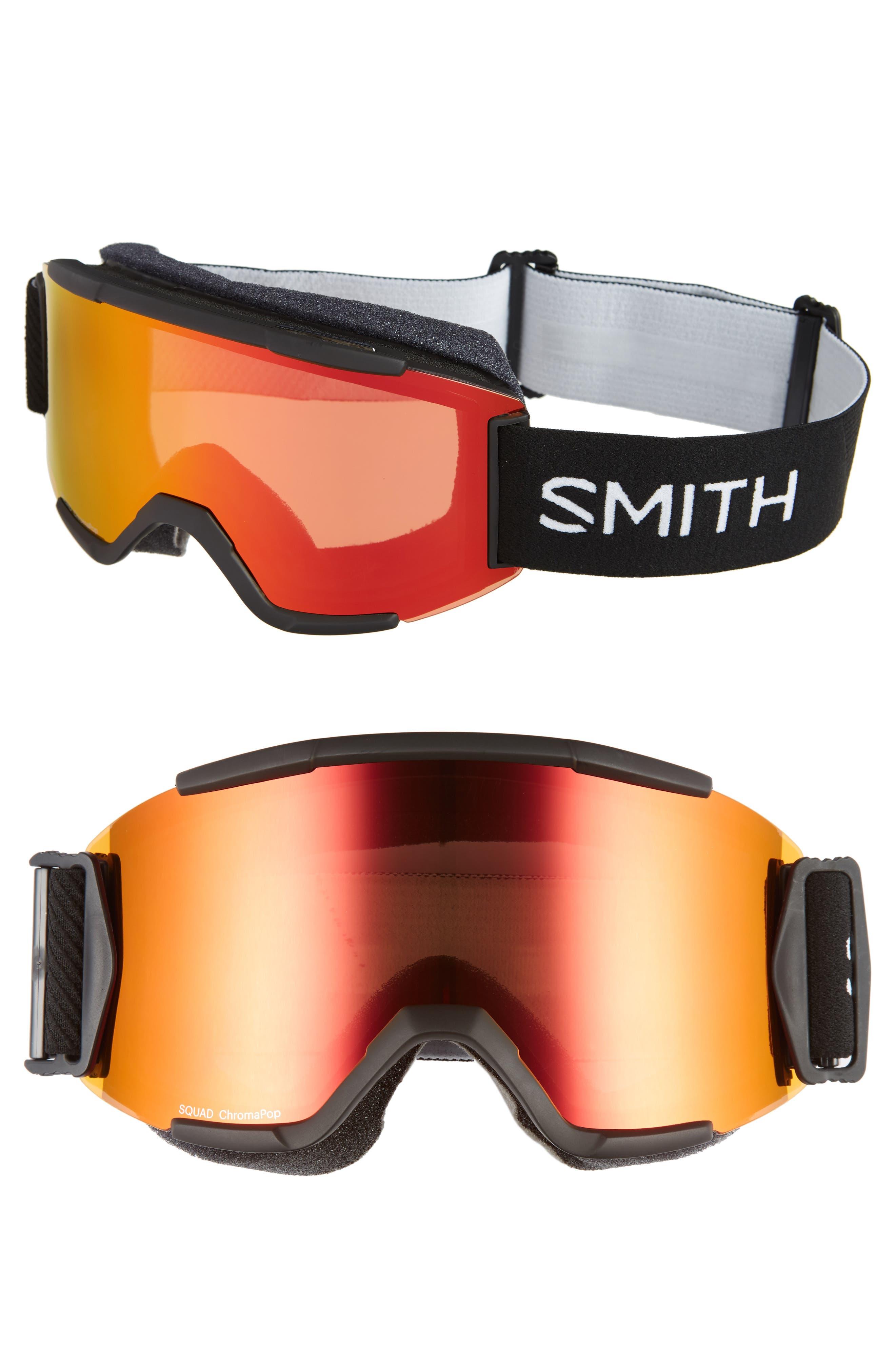 Squad Chromapop 165mm Snow Goggles,                         Main,                         color, BLACK