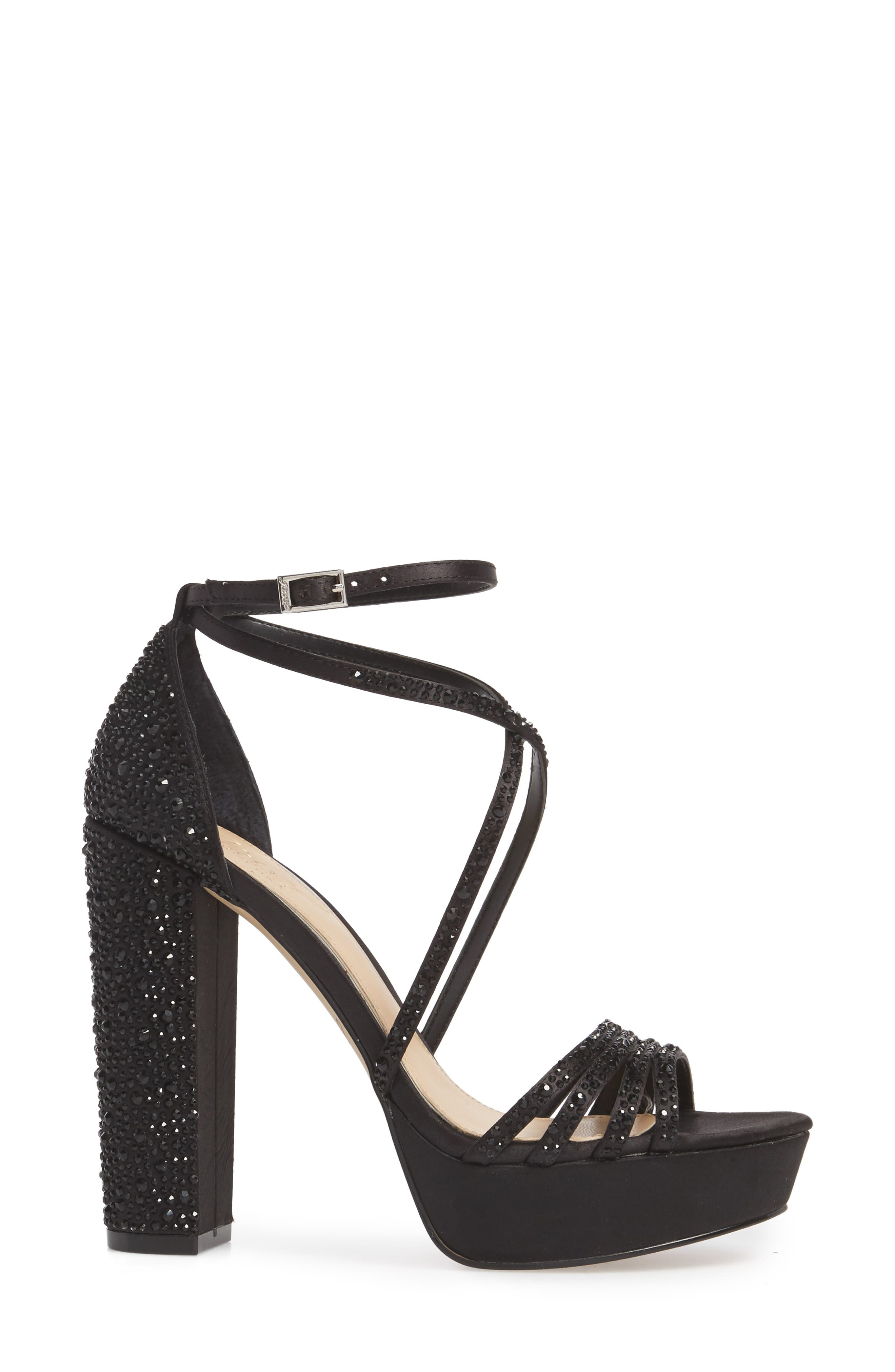 Tarah Crystal Embellished Platform Sandal,                             Alternate thumbnail 7, color,