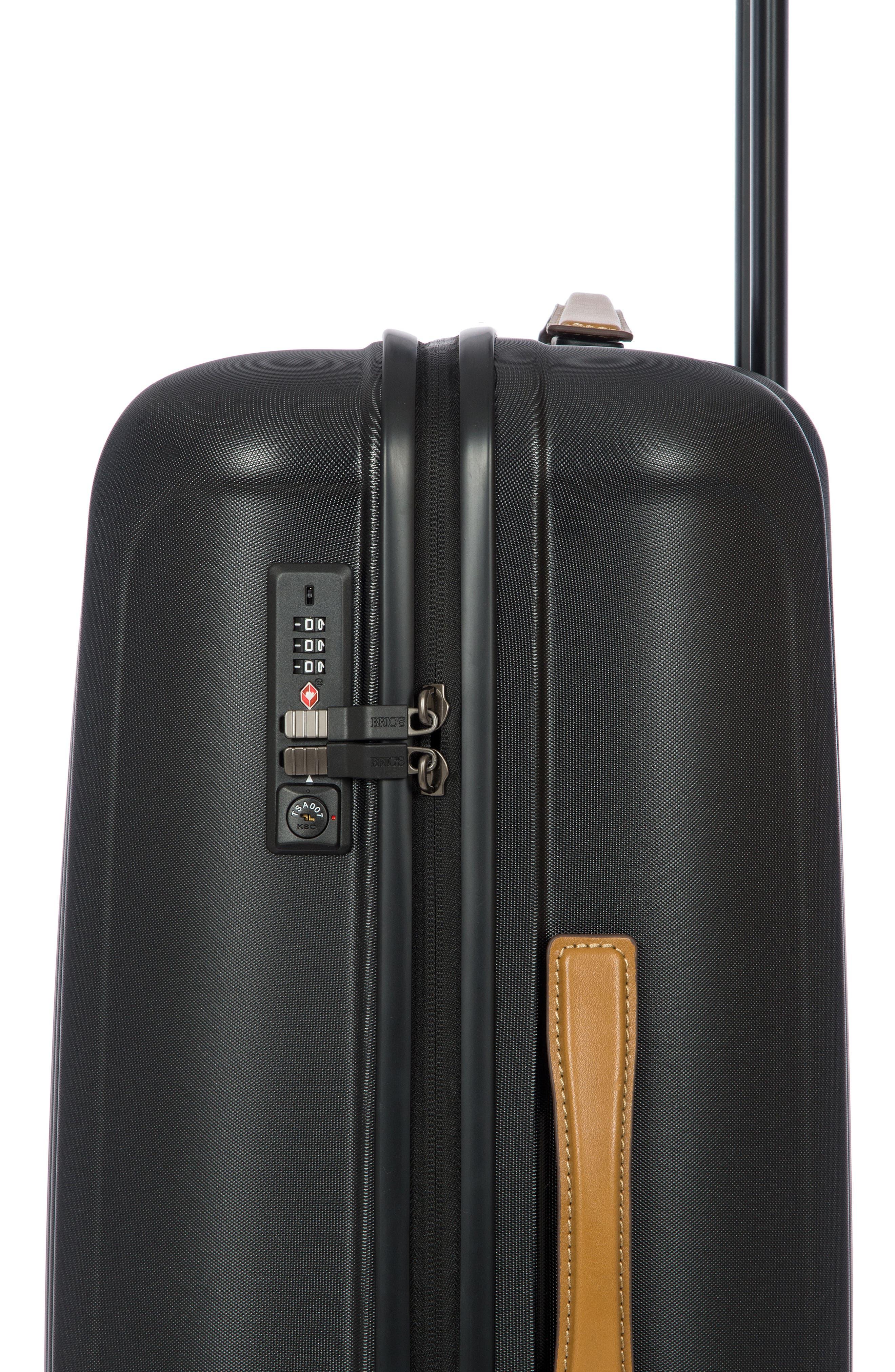 Capri 27-Inch Rolling Suitcase,                             Alternate thumbnail 11, color,                             MATTE BLACK