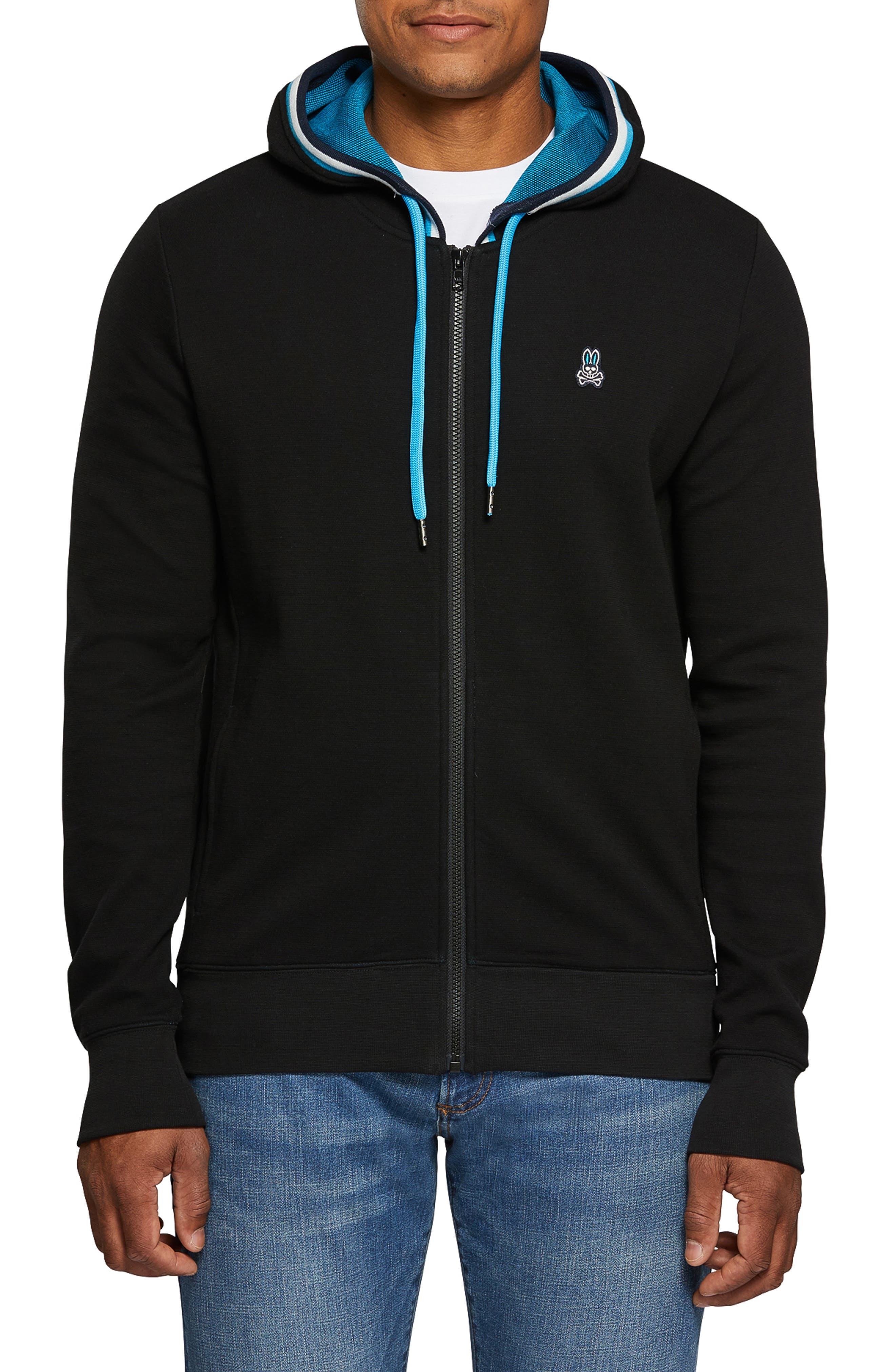 Holcombe Zip Hoodie,                         Main,                         color, BLACK