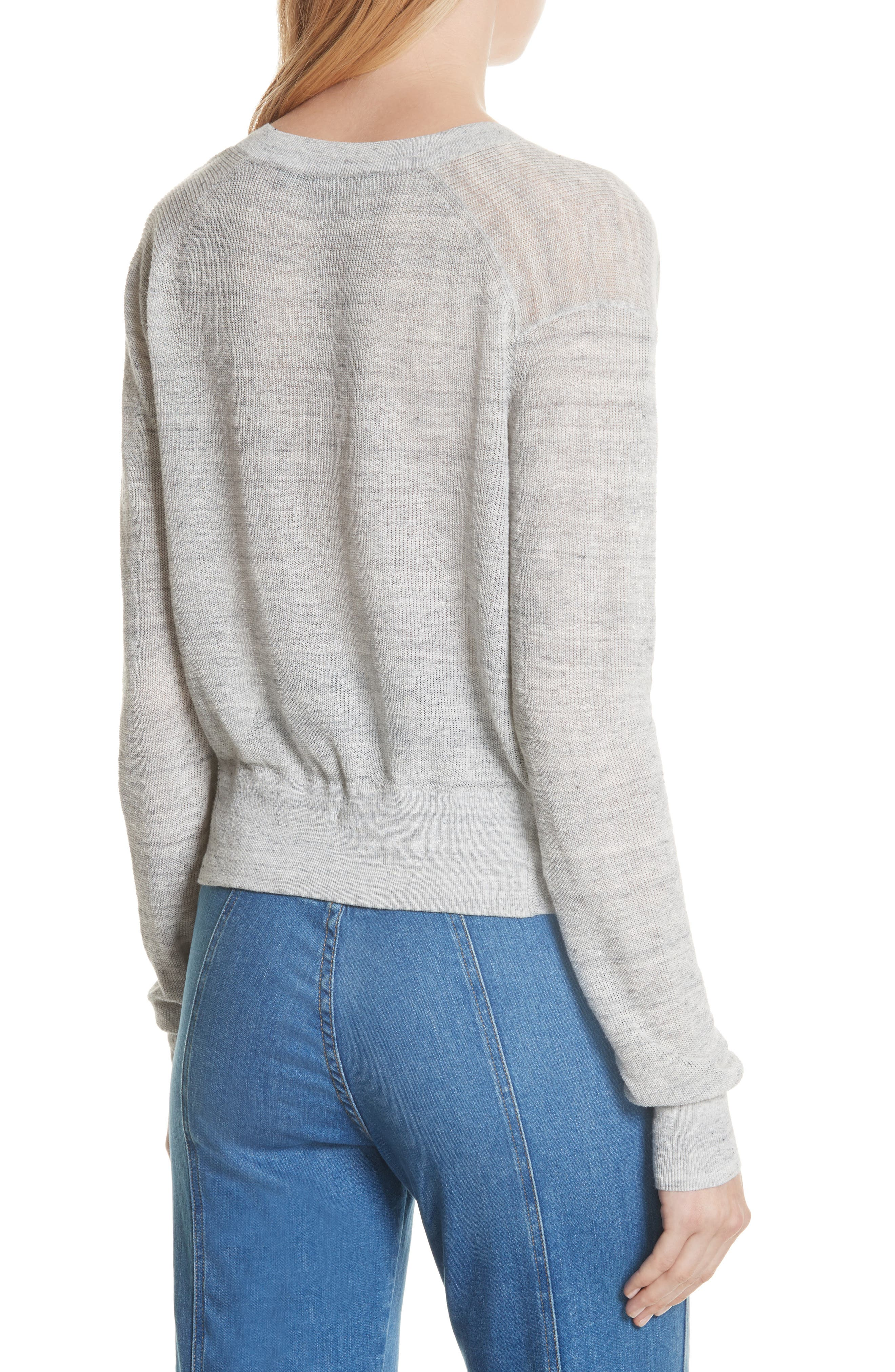 Soren Twist Front Linen Blend Sweater,                             Alternate thumbnail 2, color,
