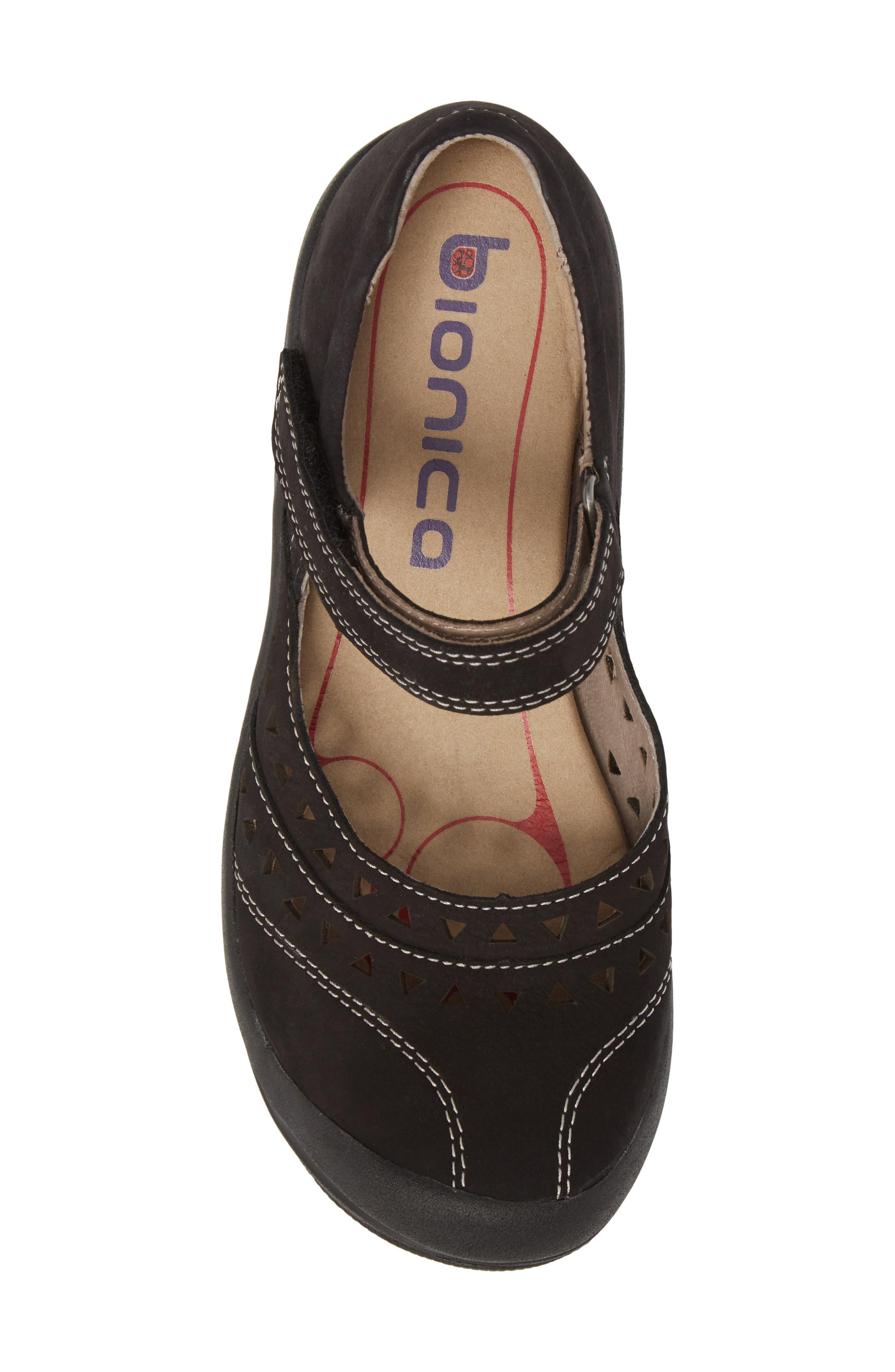 BIONICA,                             Matia Mary Jane Sneaker,                             Alternate thumbnail 5, color,                             BLACK LEATHER