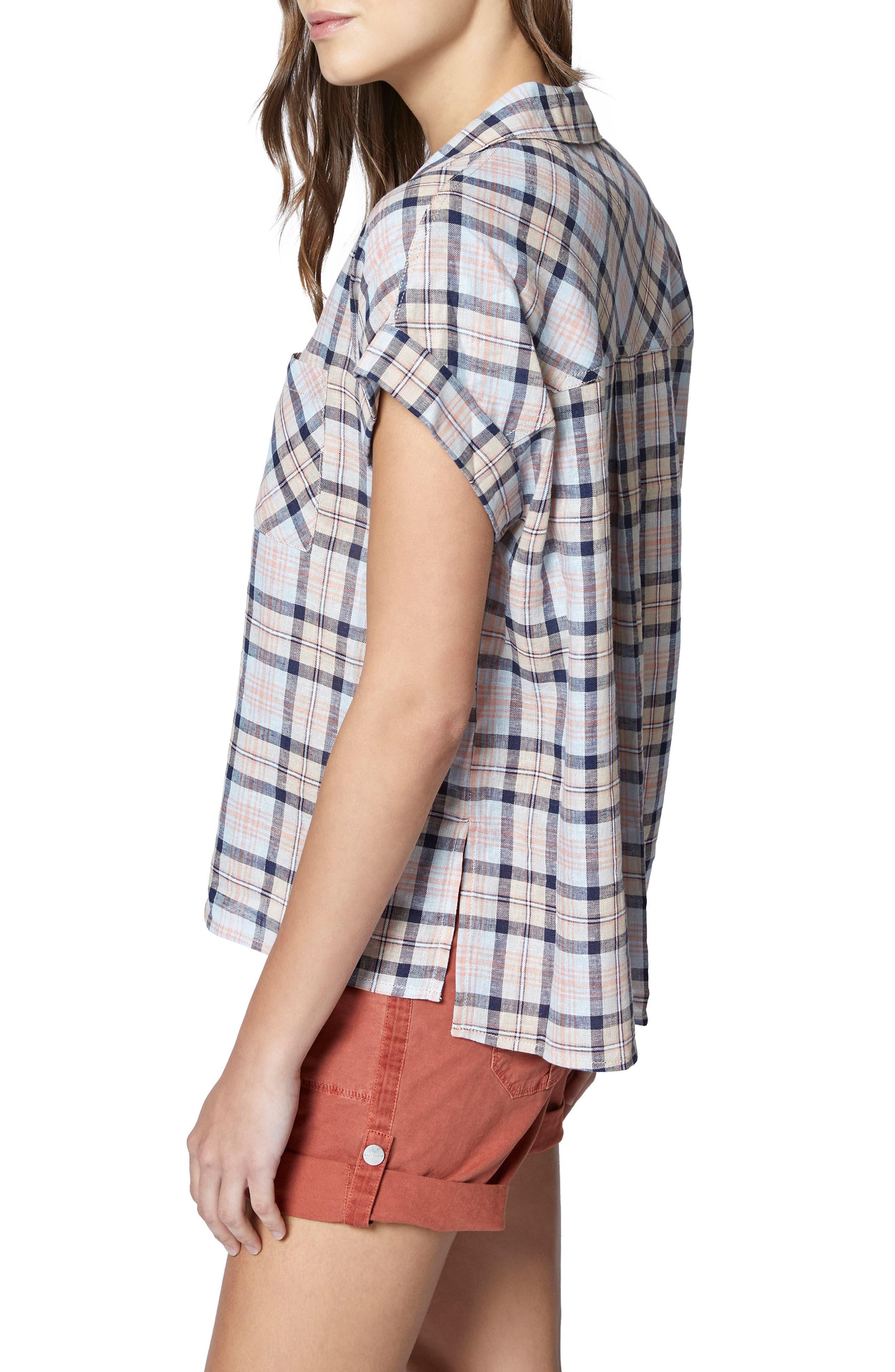 Mod Short Sleeve Boyfriend Shirt,                             Alternate thumbnail 17, color,
