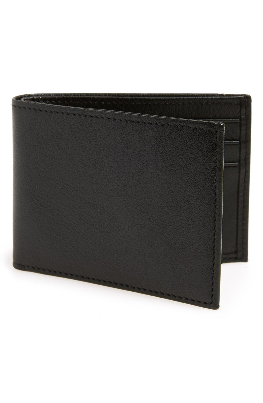 Leather Wallet,                             Main thumbnail 1, color,                             001