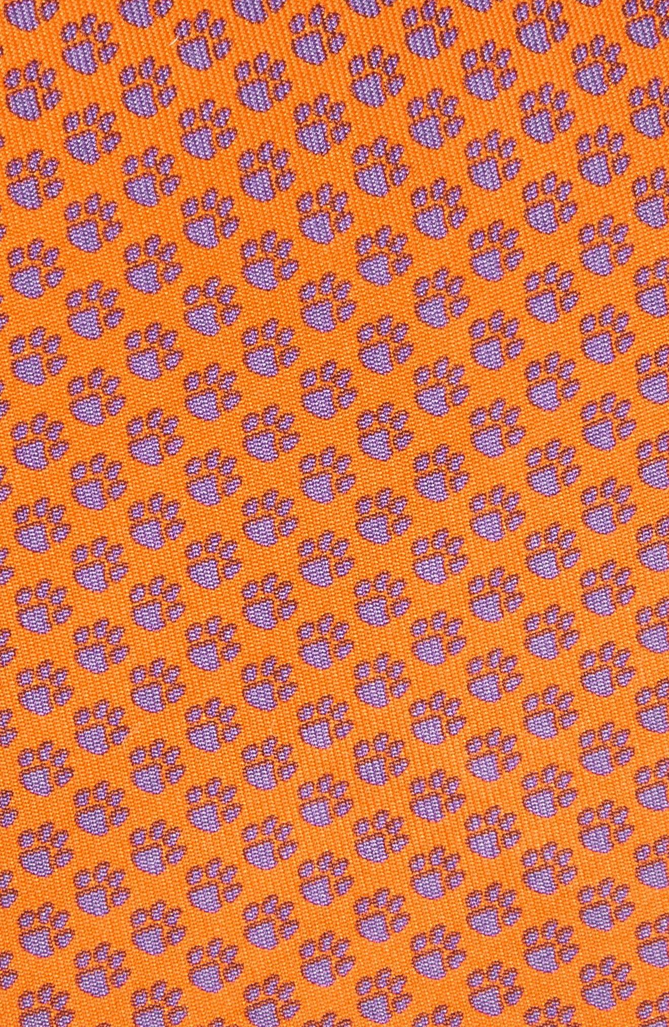Clemson Silk Tie,                             Alternate thumbnail 2, color,                             800