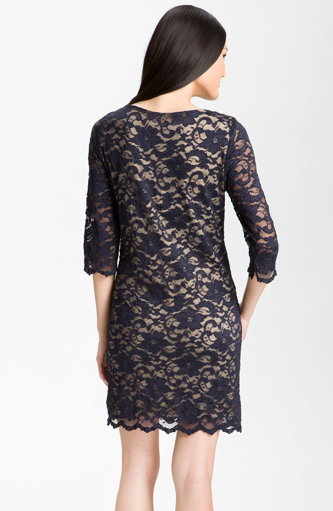 Lace Overlay Dress,                             Alternate thumbnail 5, color,