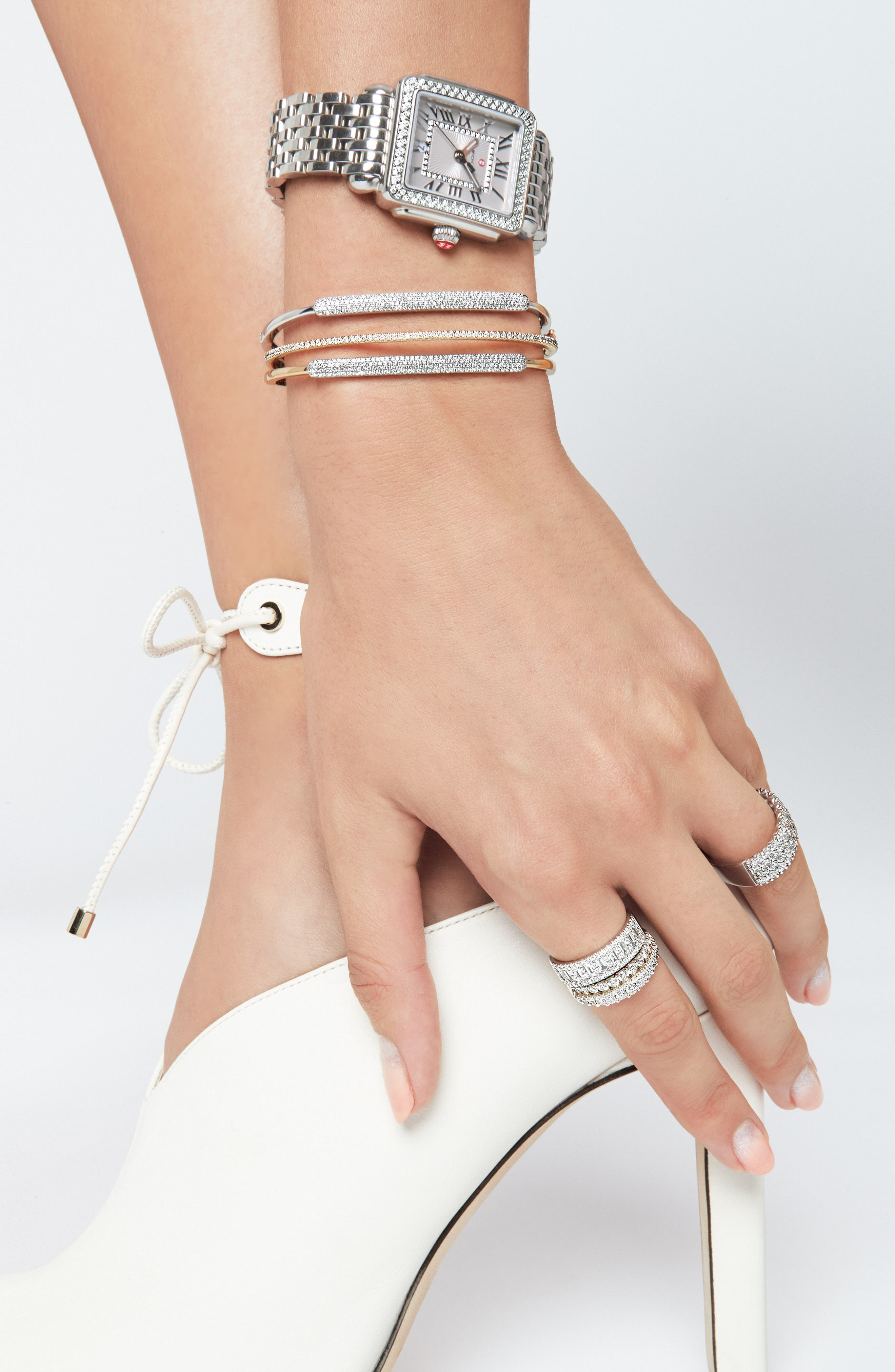 Deco 16 16mm Bracelet Watchband,                             Alternate thumbnail 11, color,                             SILVER
