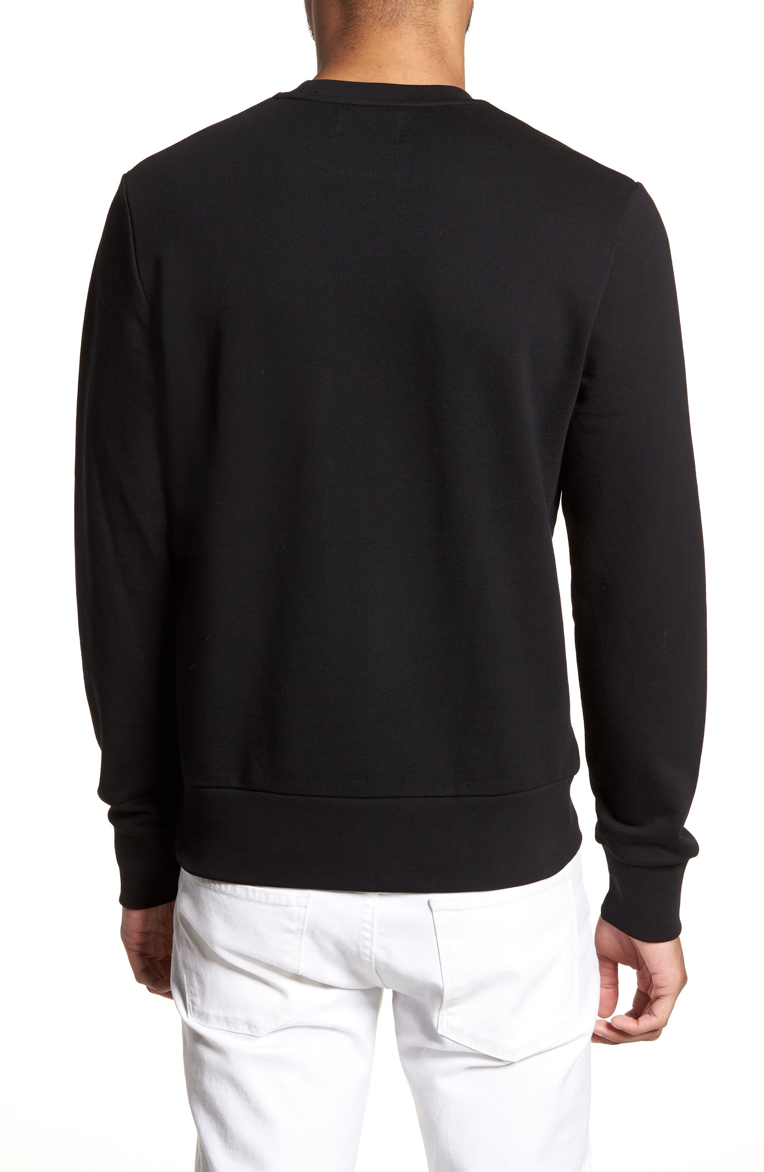Embroidered Sweatshirt,                             Alternate thumbnail 2, color,                             001