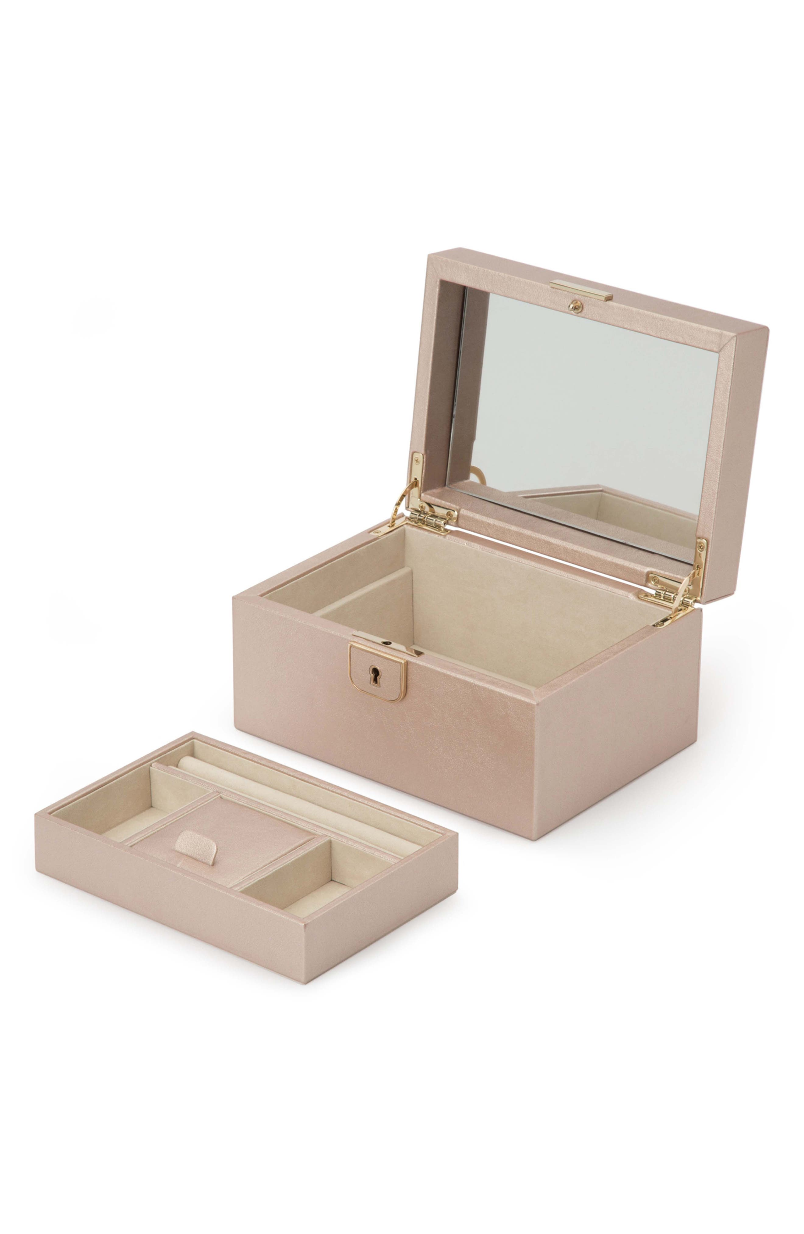 Palermo Small Jewelry Box,                             Alternate thumbnail 3, color,                             ROSE GOLD