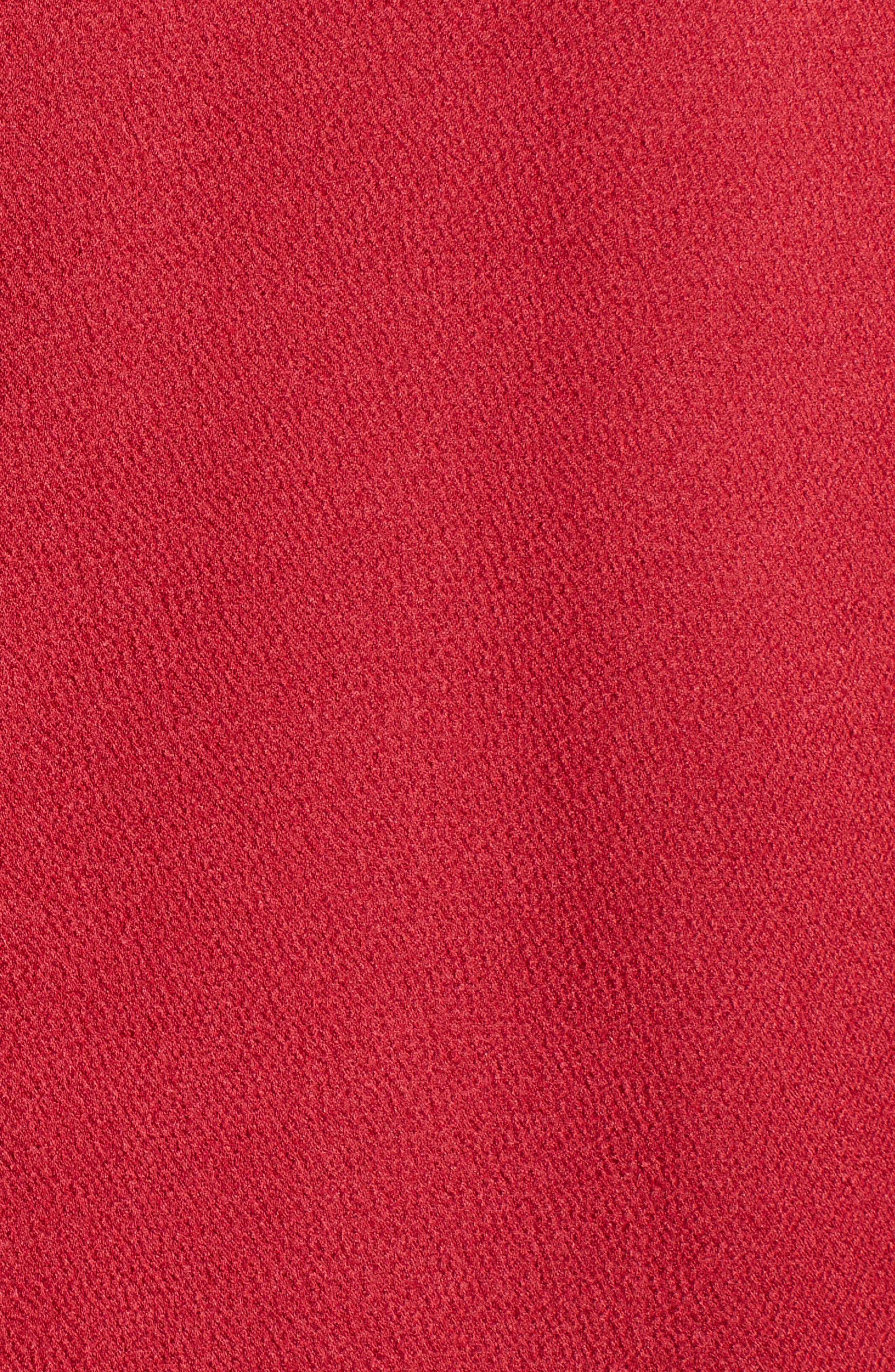 Tie Front Blouse,                             Alternate thumbnail 5, color,                             CLARET