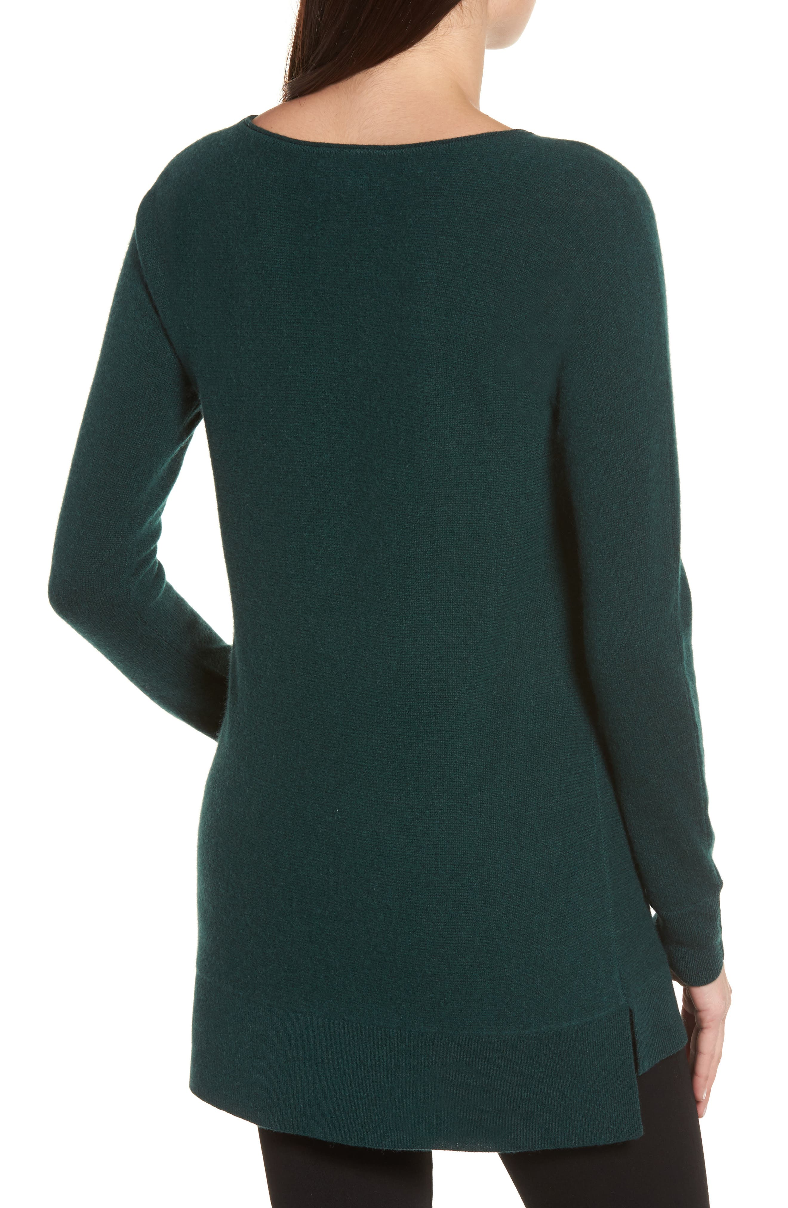 High/Low Wool & Cashmere Tunic Sweater,                             Alternate thumbnail 23, color,