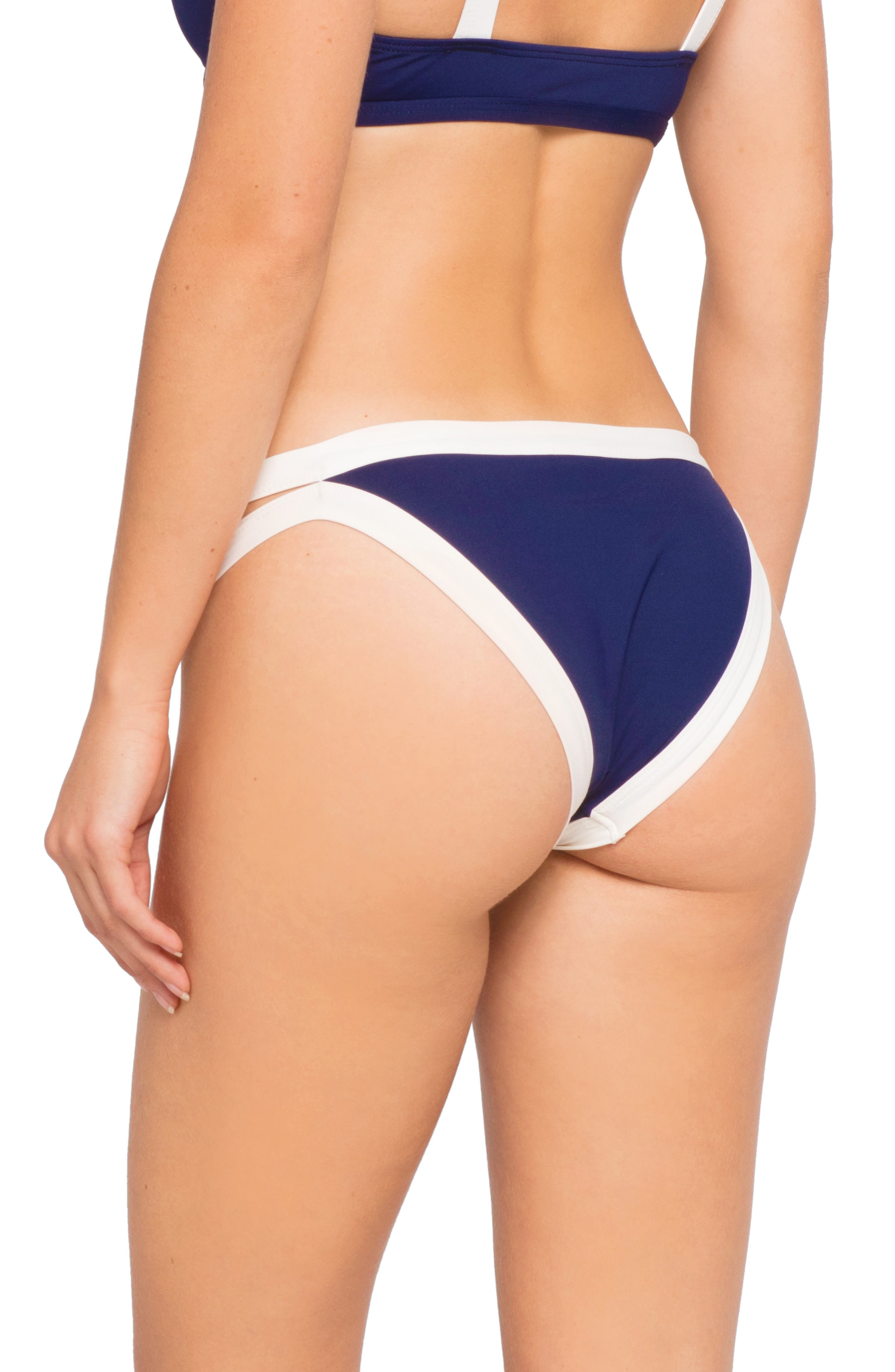 L SPACE,                             Charlie Techno Garden Bikini Bottoms,                             Alternate thumbnail 2, color,                             MIDNIGHT BLUE