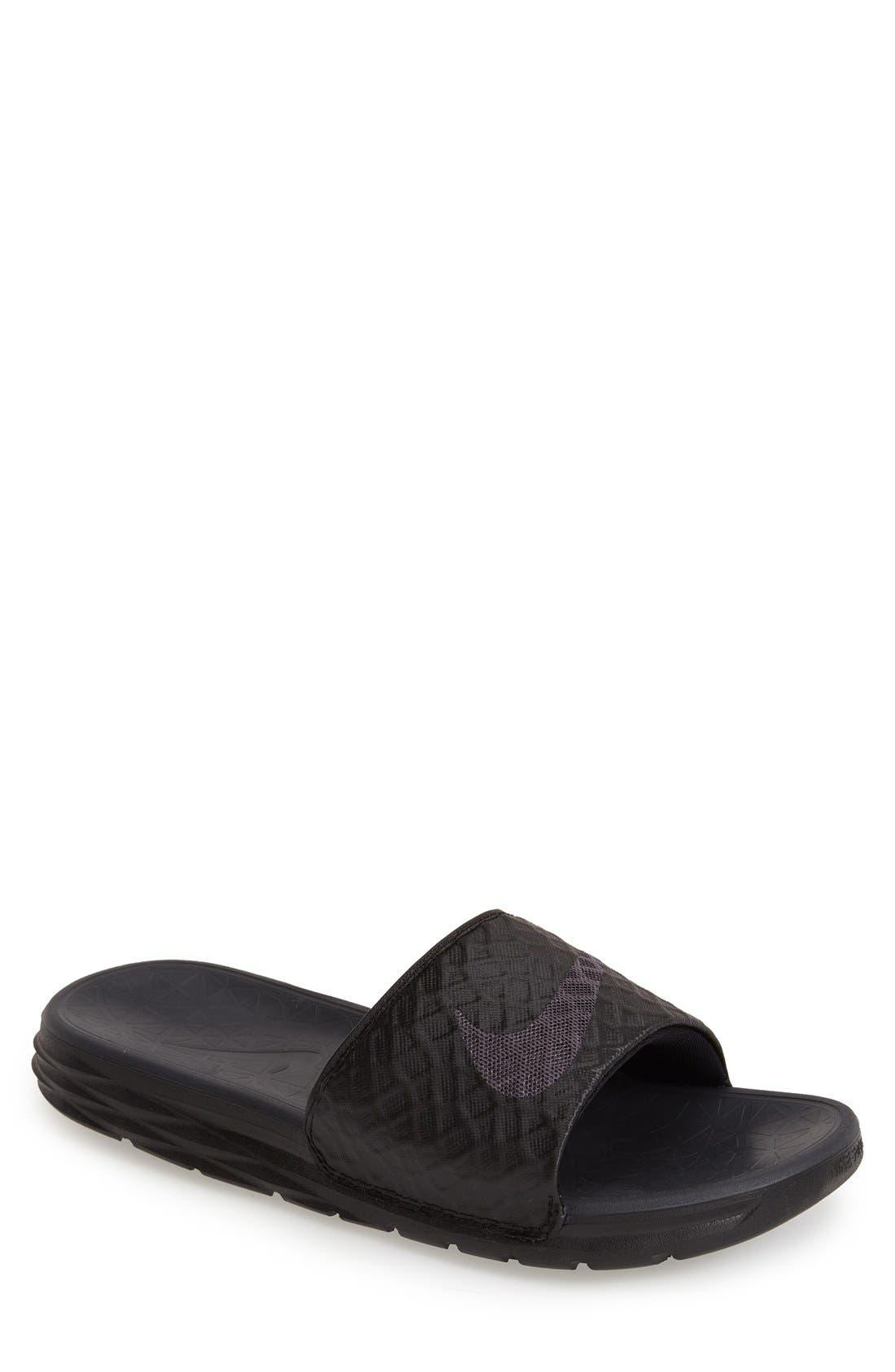 'Benassi Solarsoft 2' Slide Sandal,                             Main thumbnail 1, color,                             BLACK/ ANTHRACITE
